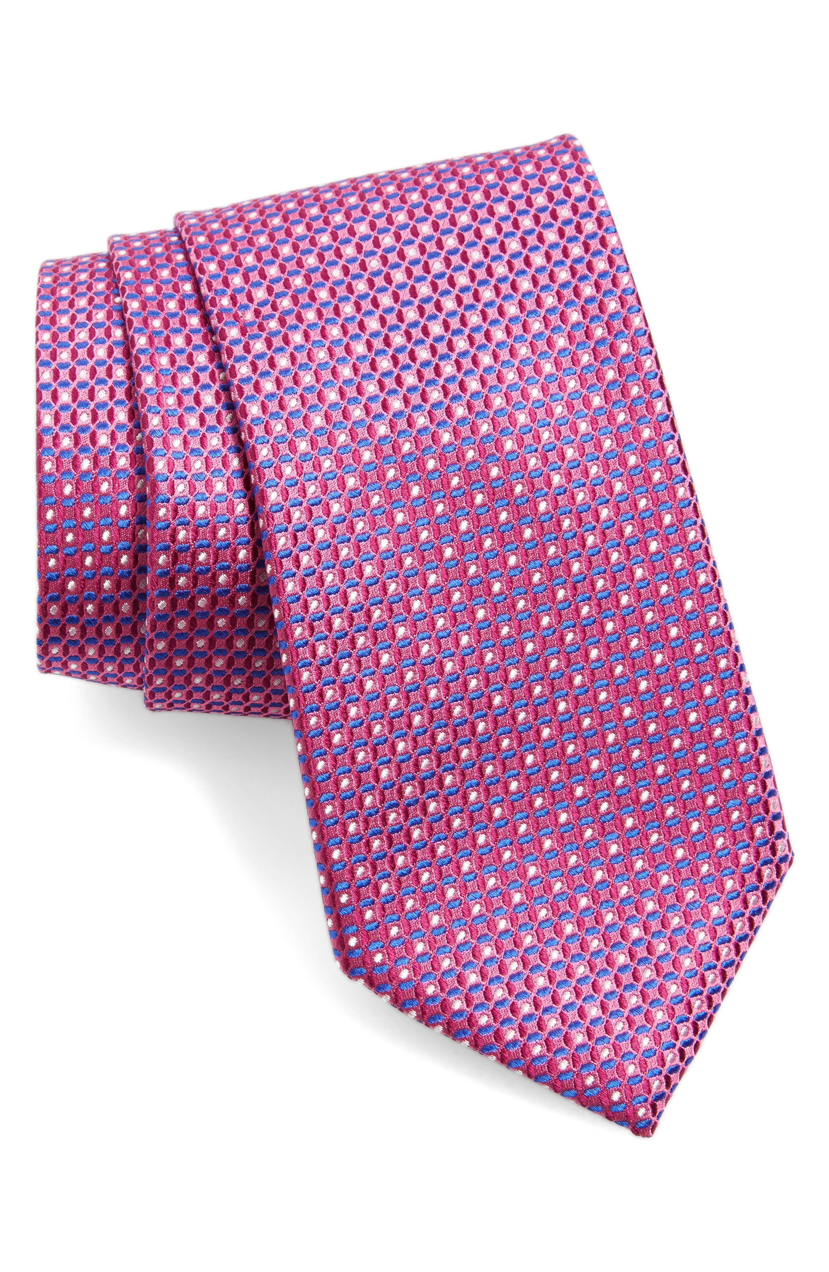 Check Silk Tie,                             Main thumbnail 6, color,