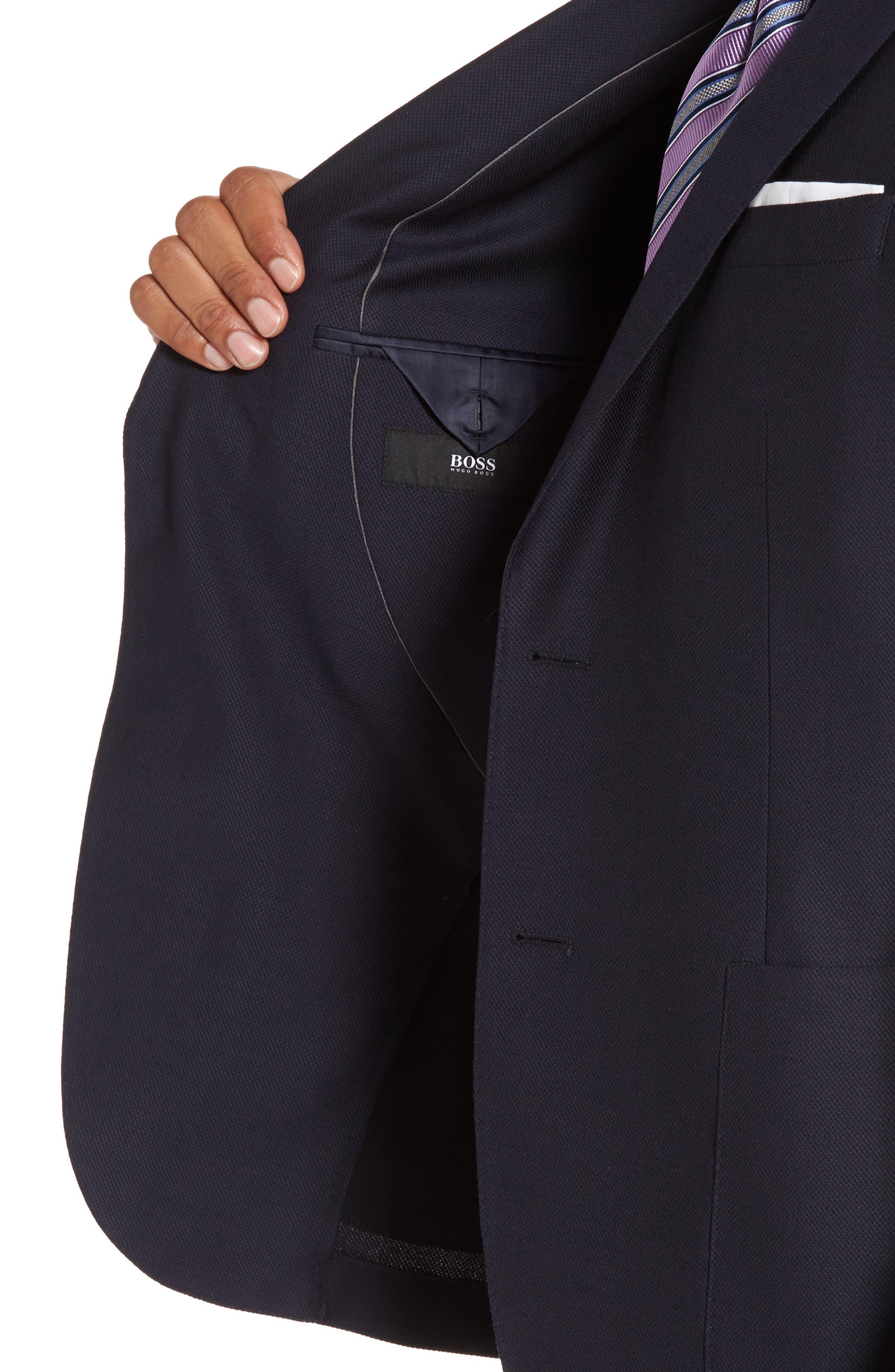 Novan/Ben Classic Fit Solid Wool Suit,                             Alternate thumbnail 4, color,                             410