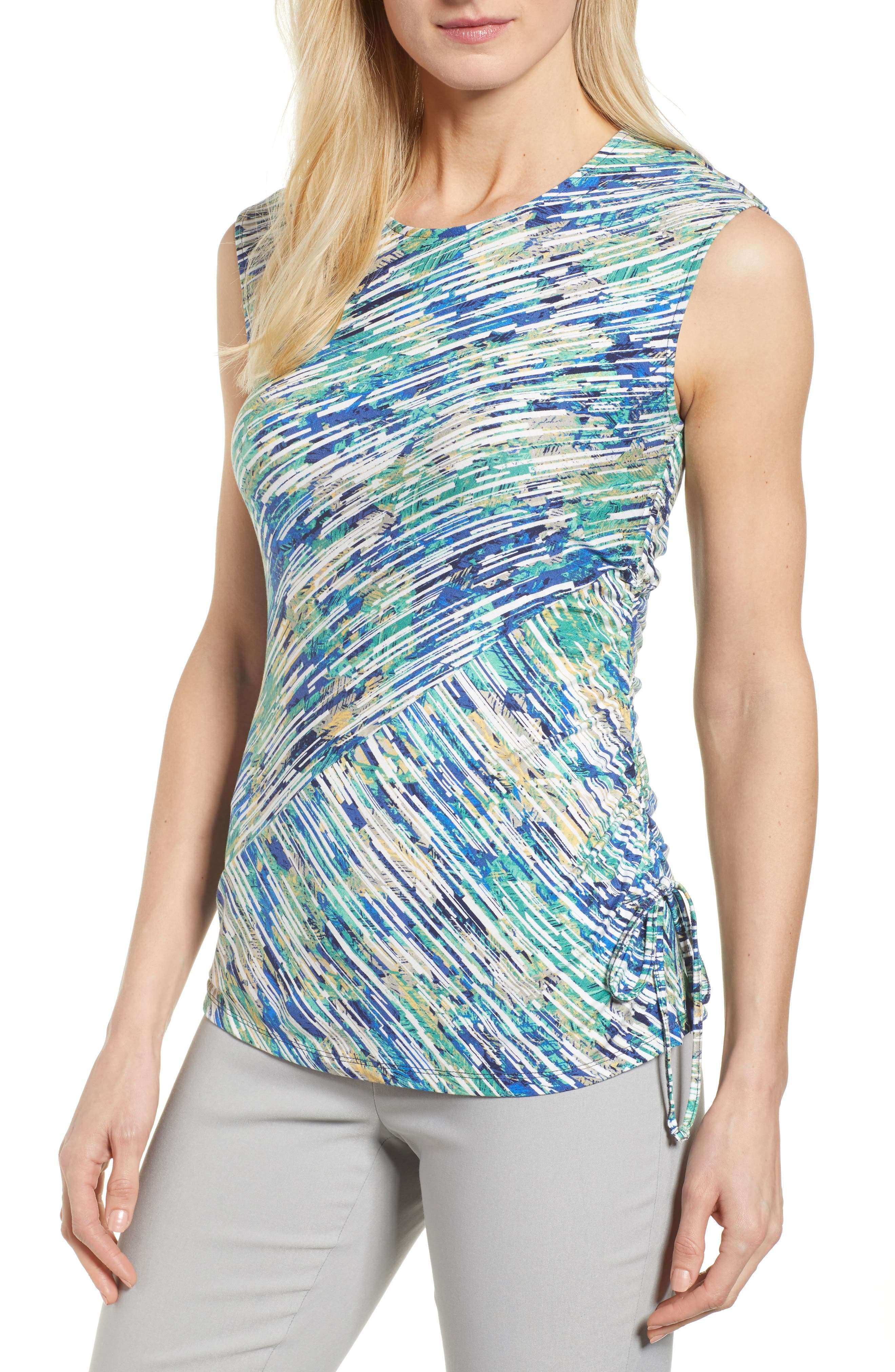 Mirage Ruched Tank,                         Main,                         color,