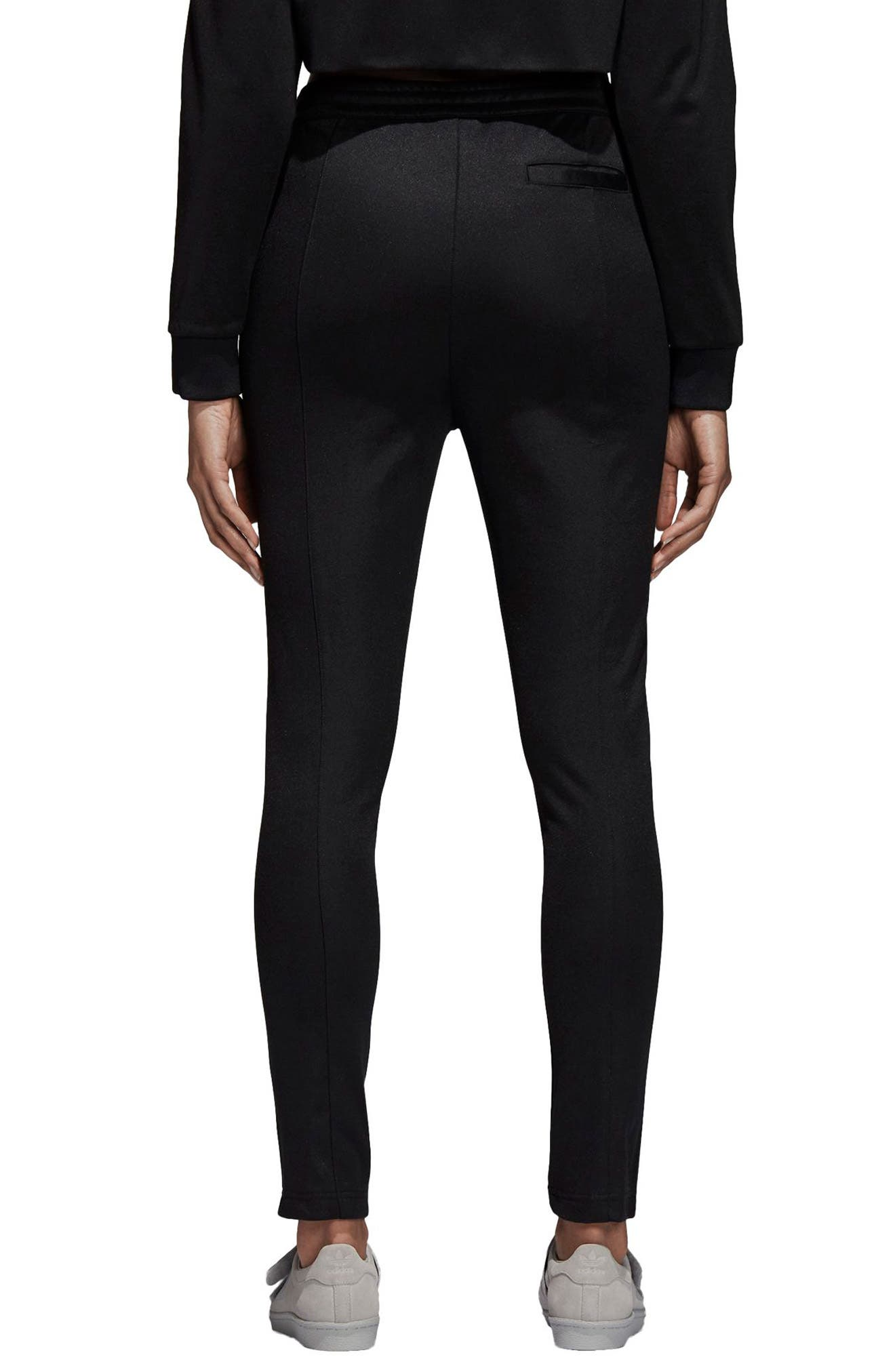 adidas 3 Stripe Track Pants,                             Alternate thumbnail 2, color,                             BLACK