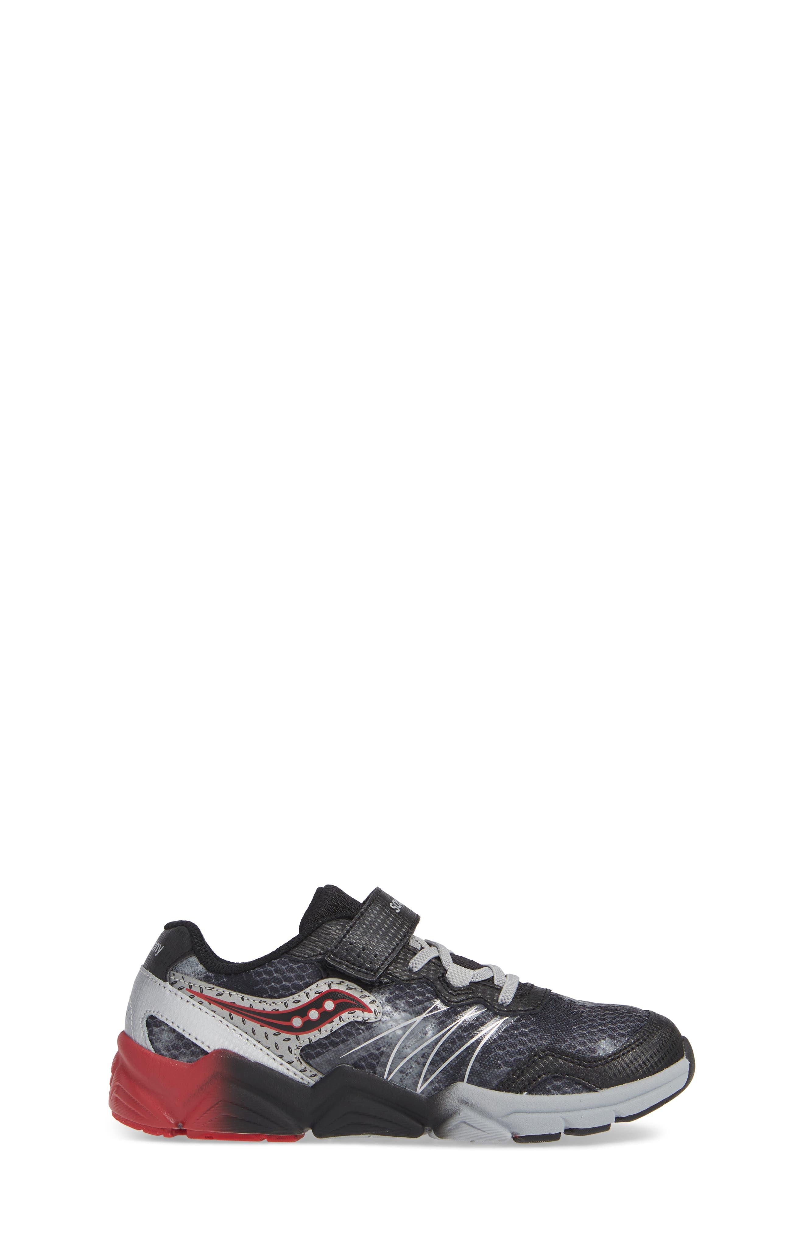 Kotaro Flash Sneaker,                             Alternate thumbnail 3, color,                             BLACK LEATHER/ MESH