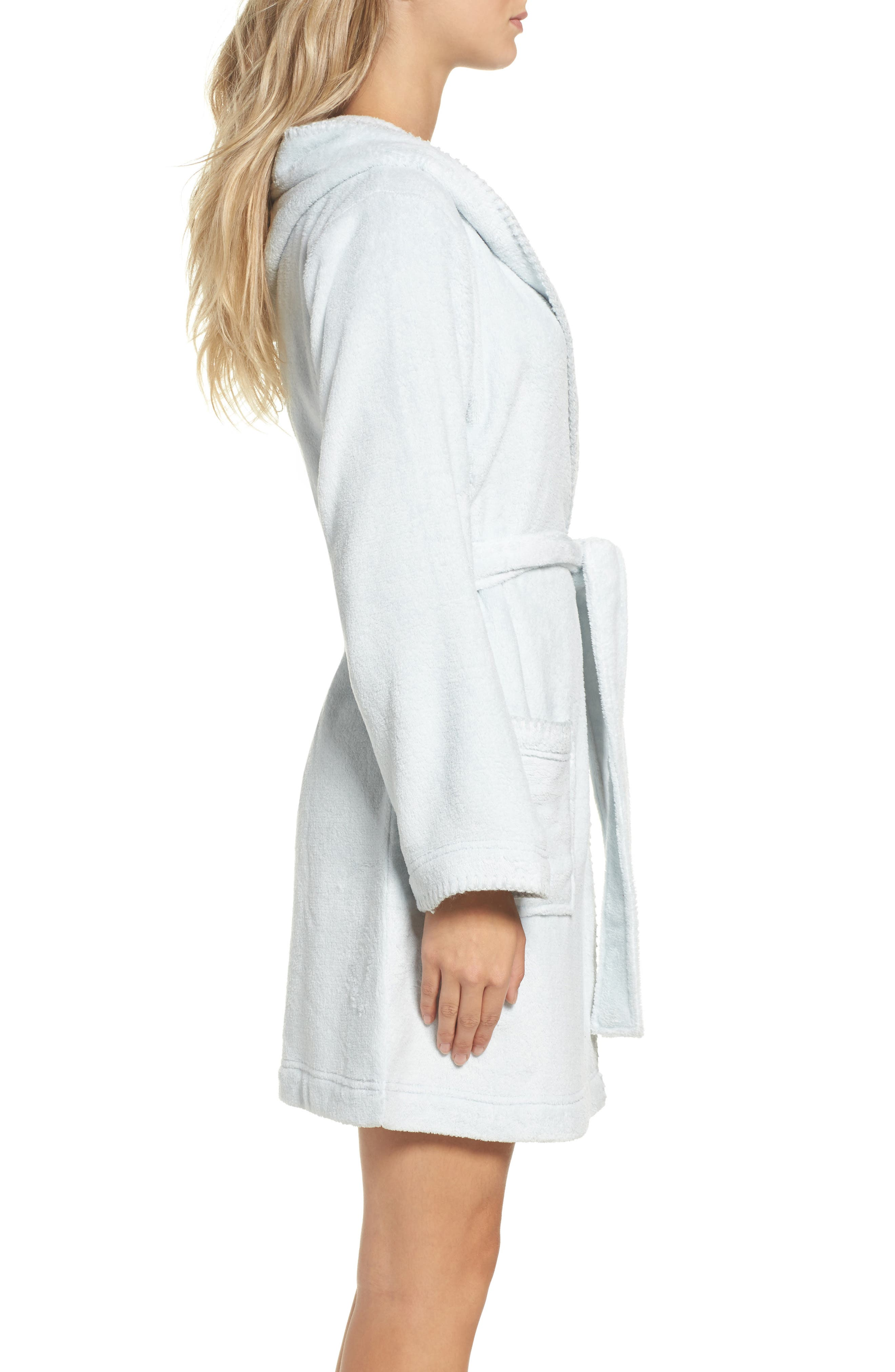 Starry Night Plush Short Robe,                             Alternate thumbnail 10, color,