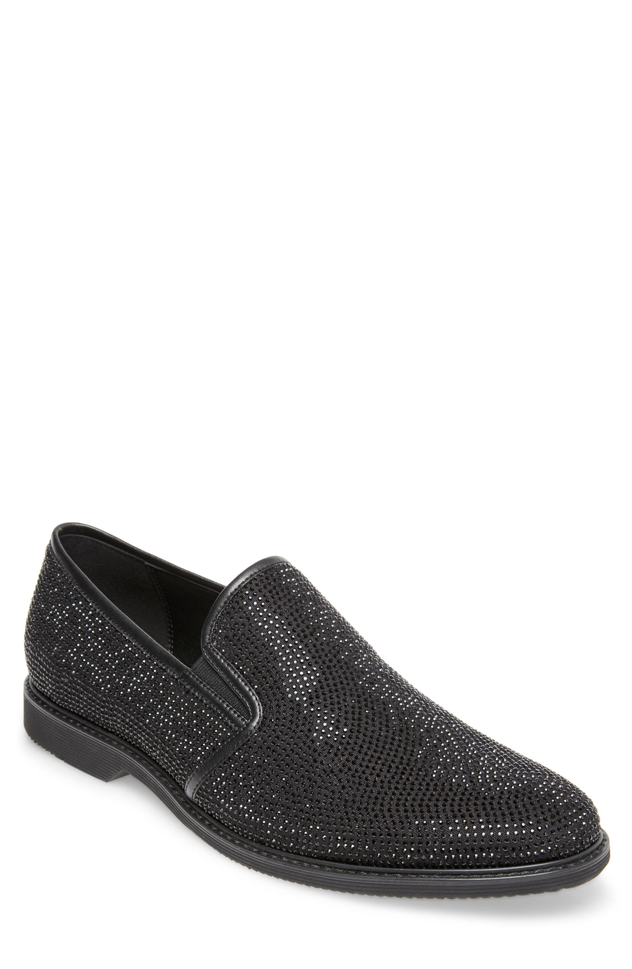 Nasca Studded Slip-On,                             Main thumbnail 1, color,                             BLACK