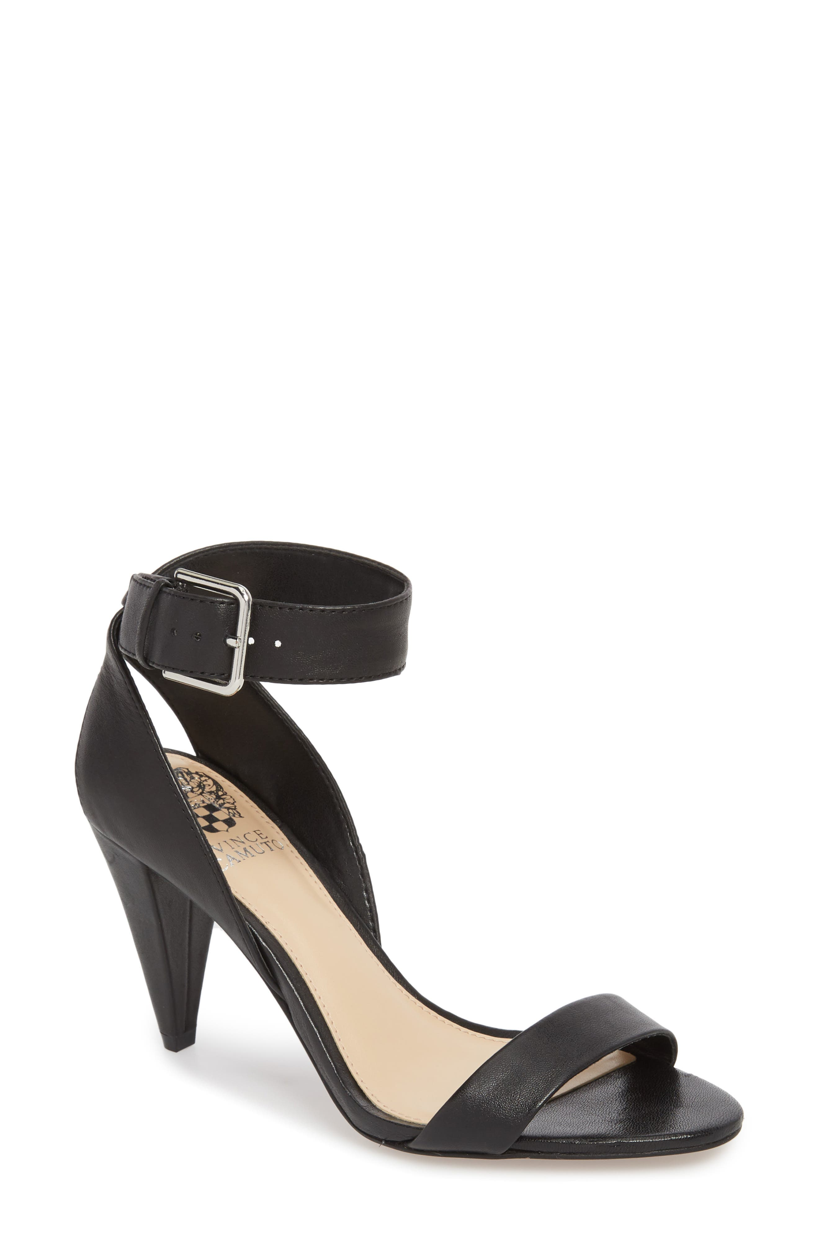 Caitriona Sandal,                         Main,                         color, BLACK LEATHER