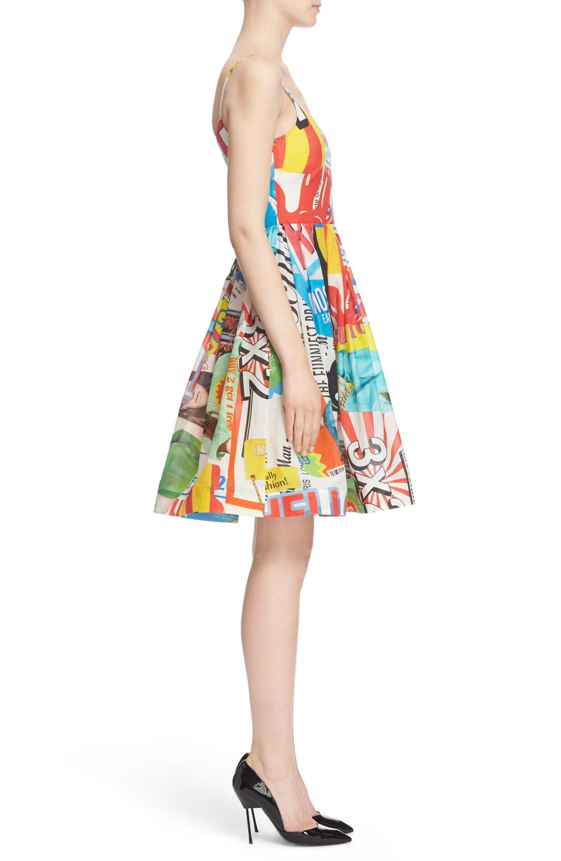 'The Powerpuff Girls<sup>®</sup>' Fit & Flare Dress,                             Alternate thumbnail 5, color,                             122