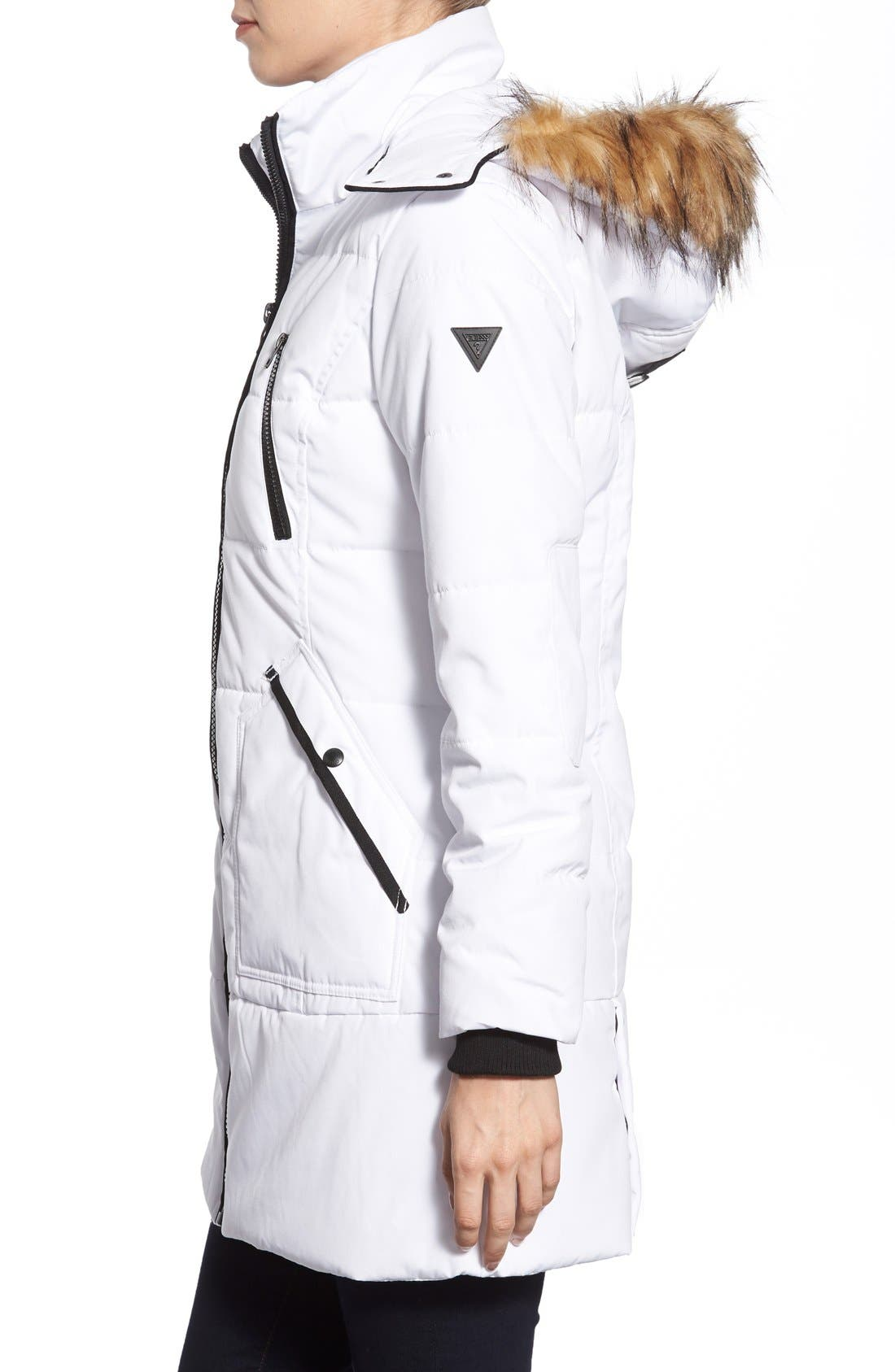 'Expedition' Quilted Parka with Faux Fur Trim,                             Alternate thumbnail 19, color,