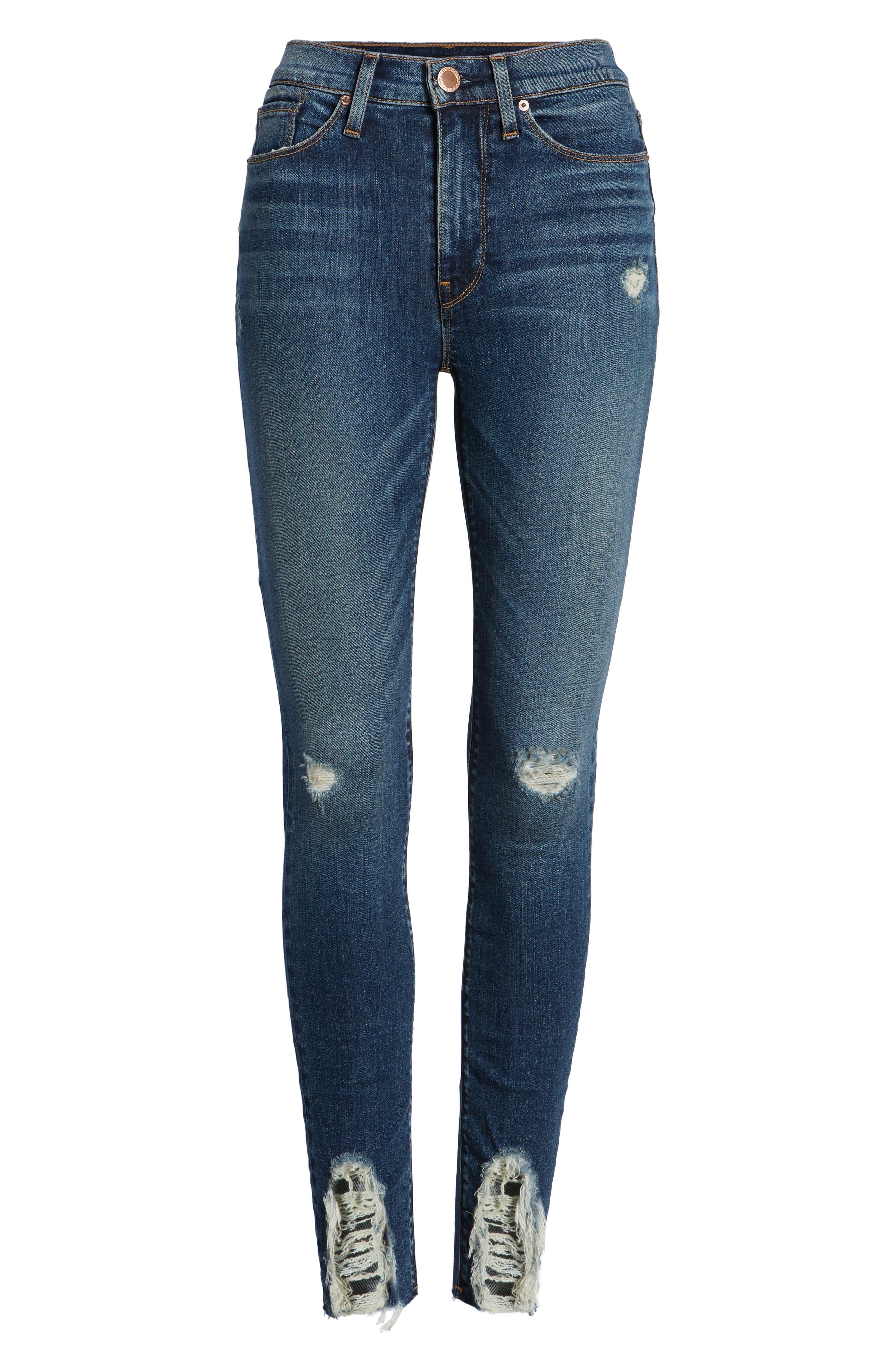 Hudson Barbara High Waist Ankle Skinny Jeans,                             Alternate thumbnail 7, color,                             401