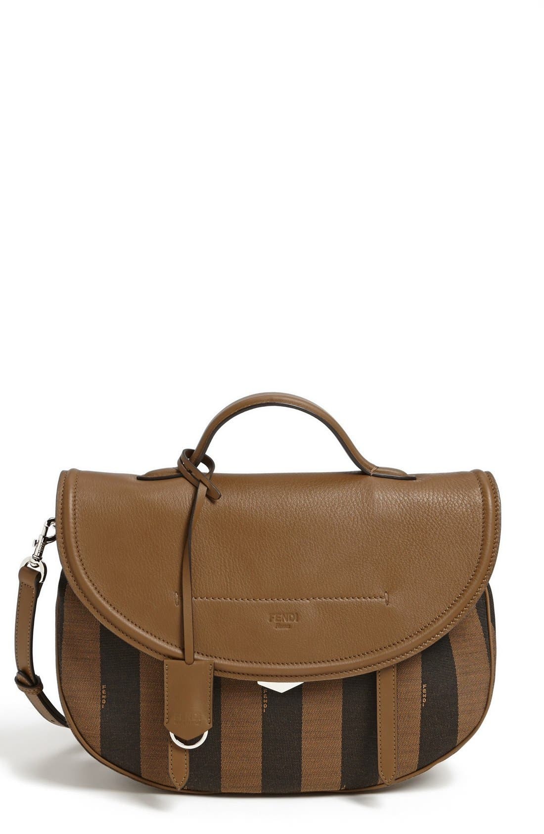 'Pequin' Logo Jacquard Crossbody Bag, Main, color, 200