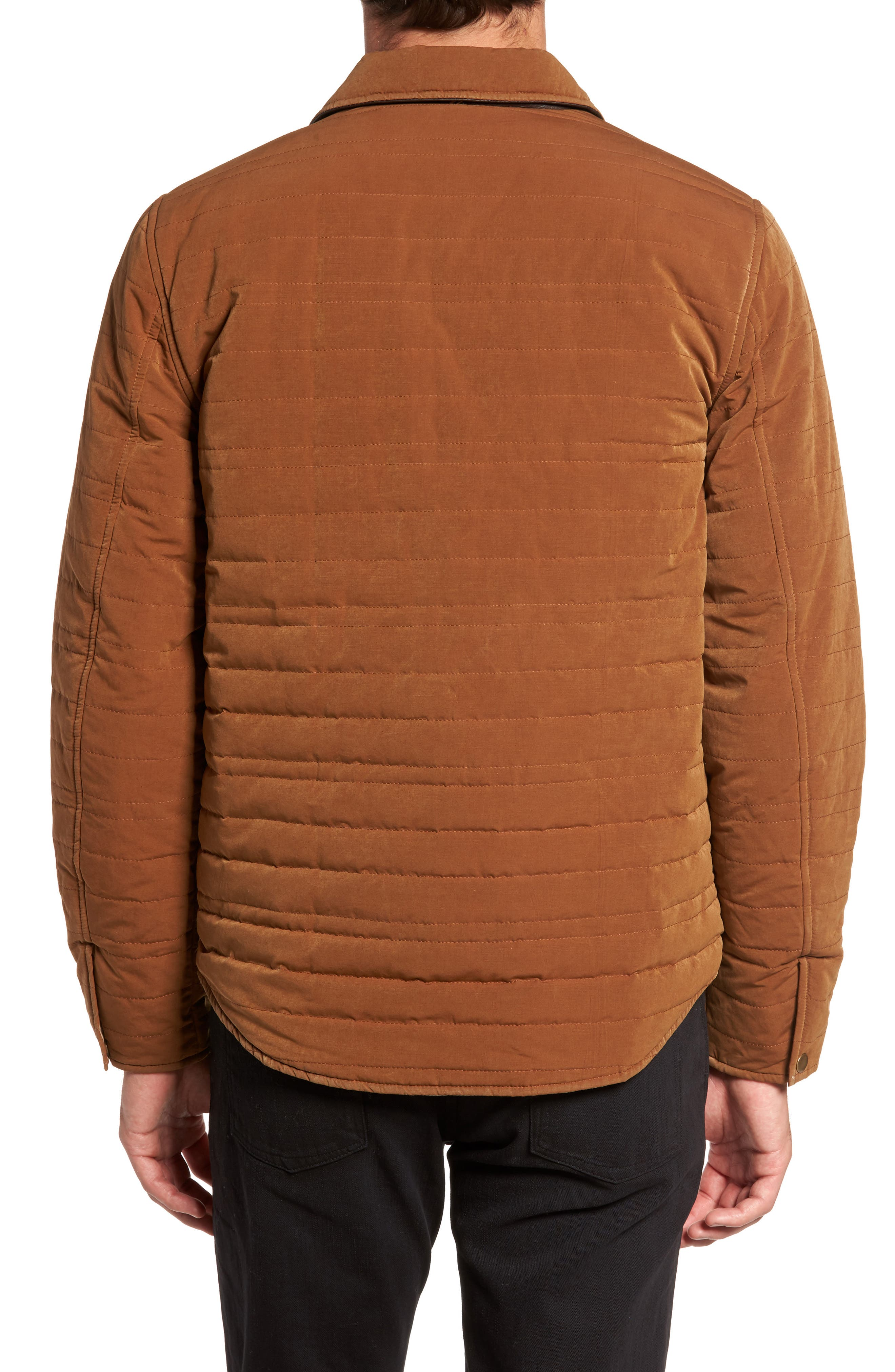 Michael Slim Fit Quilted Shirt Jacket,                             Alternate thumbnail 4, color,