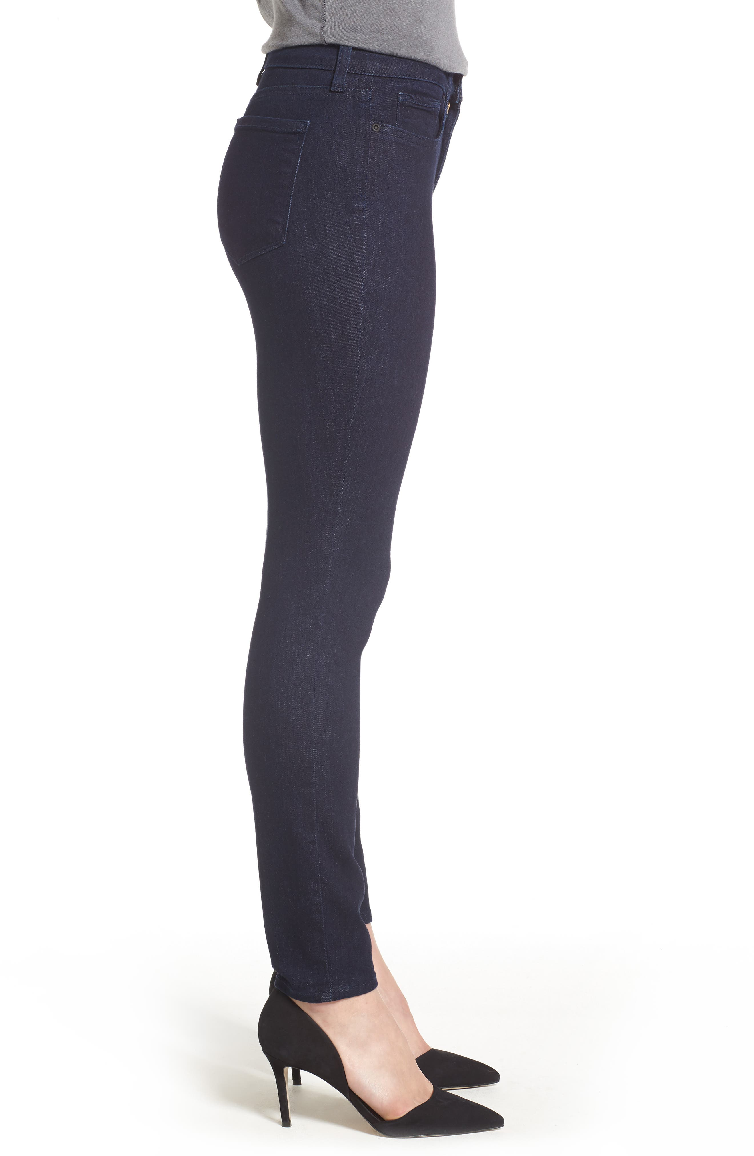 Ami High Waist Stretch Skinny Jeans,                             Alternate thumbnail 3, color,                             RINSE