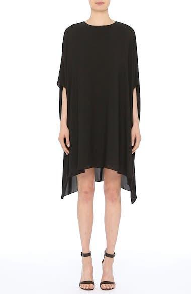 Alternate Video 8  - St. John Collection Double Silk Georgette Draped Dress