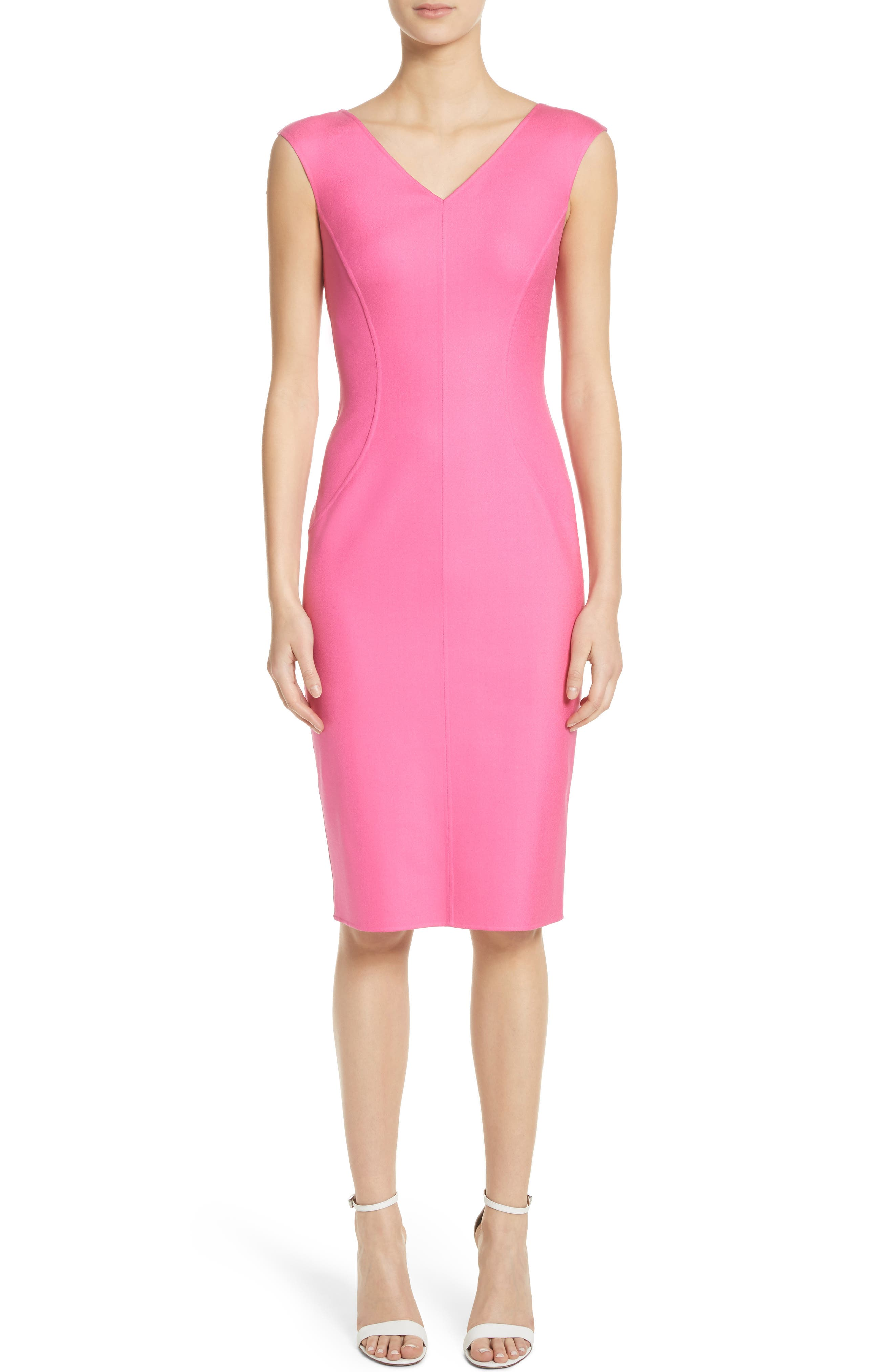 Silk Blend Sheath Dress,                             Main thumbnail 1, color,                             664