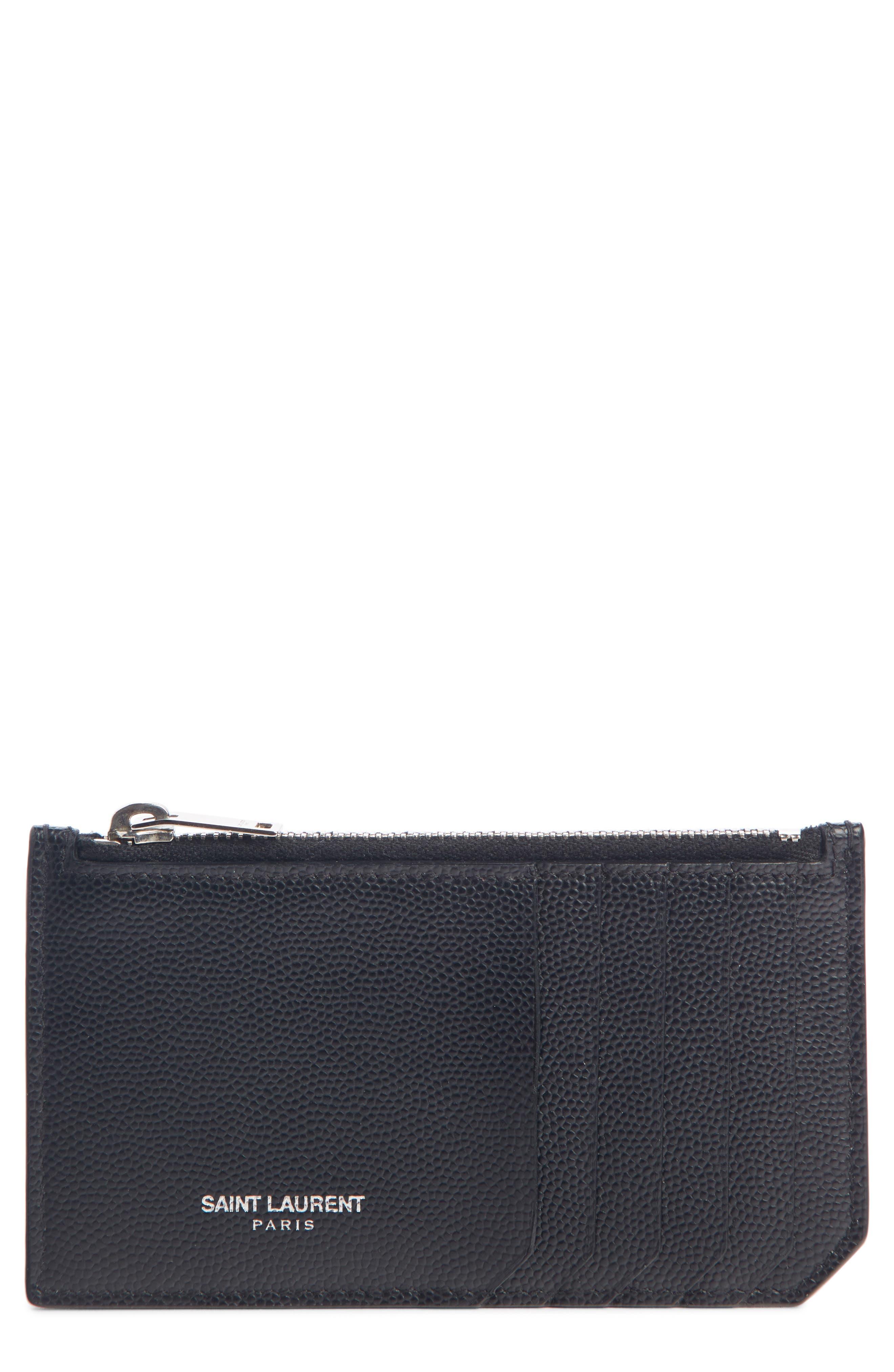 Pebble Grain Leather Zip Wallet,                         Main,                         color, 406