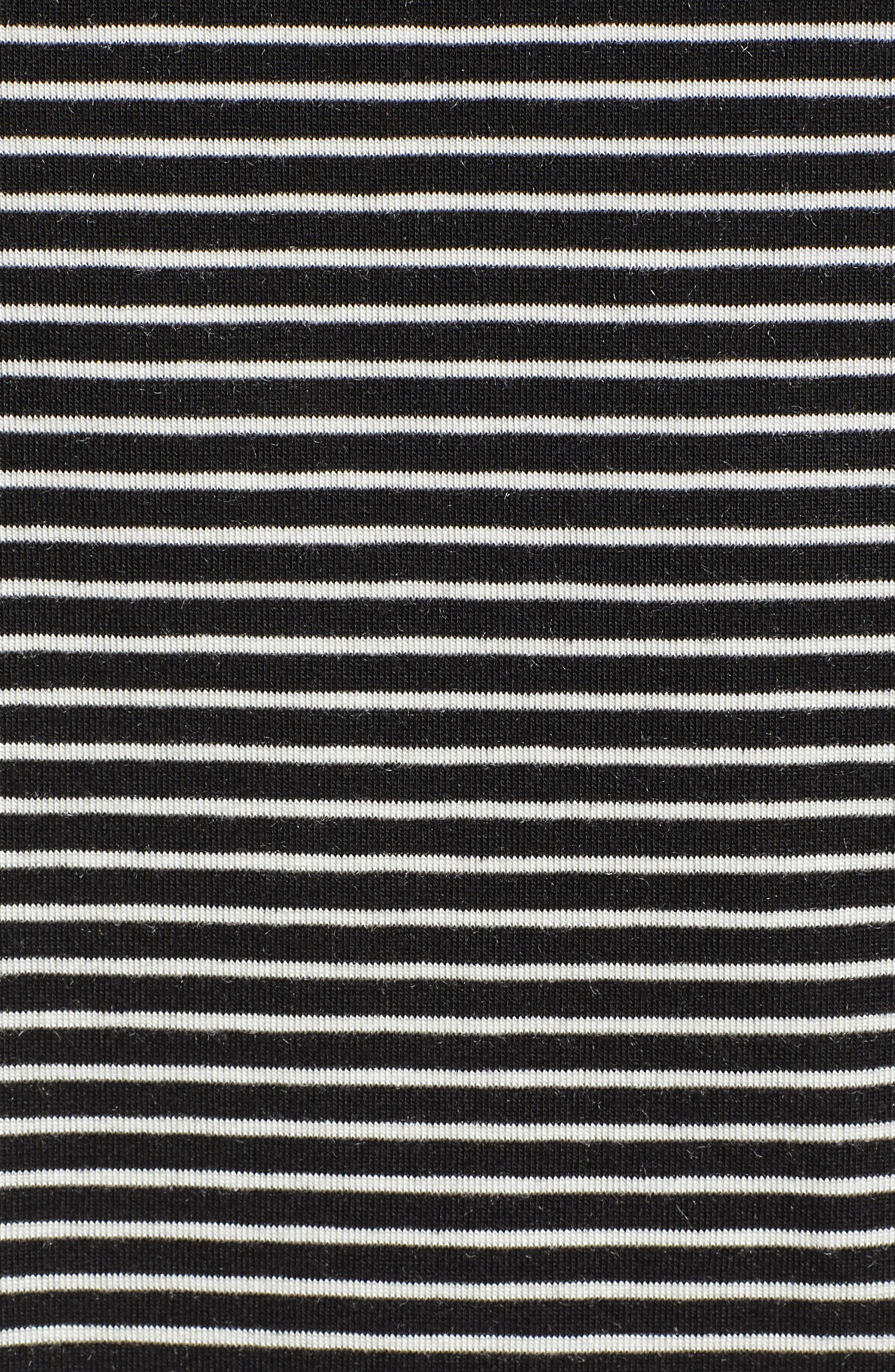 Ava Stripe Tee,                             Alternate thumbnail 5, color,                             BLACK STRIPE