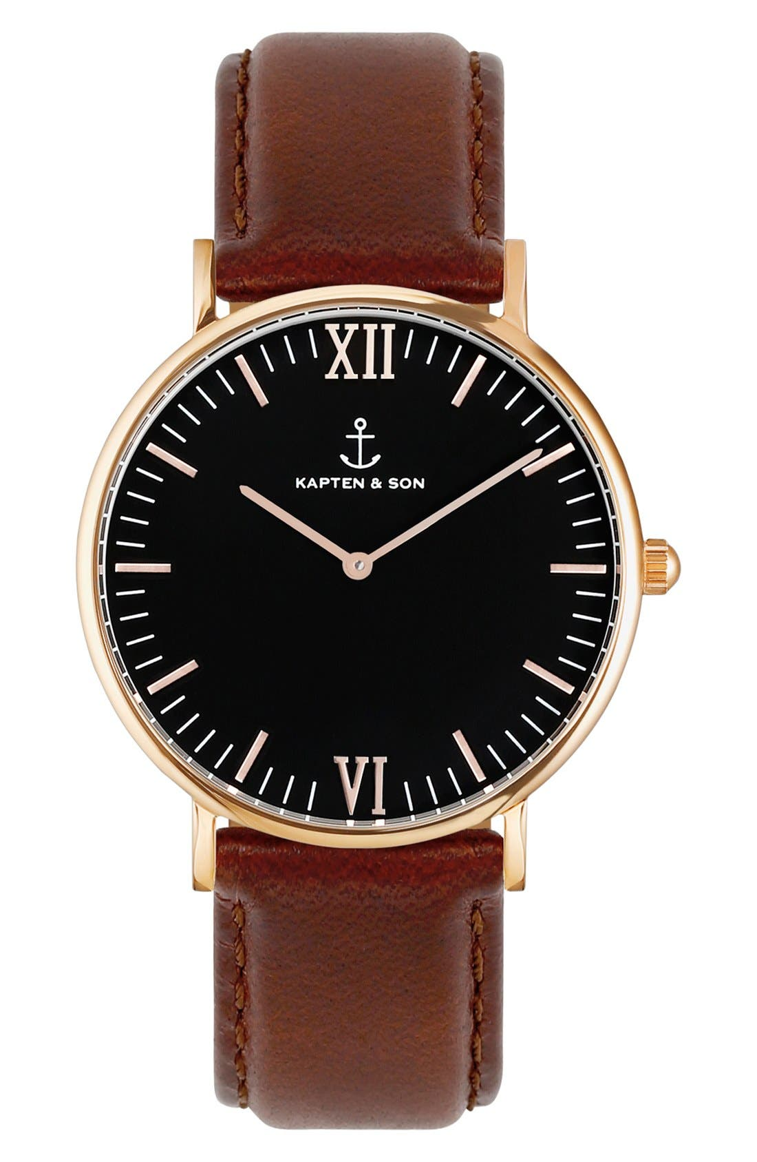 Campina Leather Strap Watch, 36mm,                             Main thumbnail 3, color,