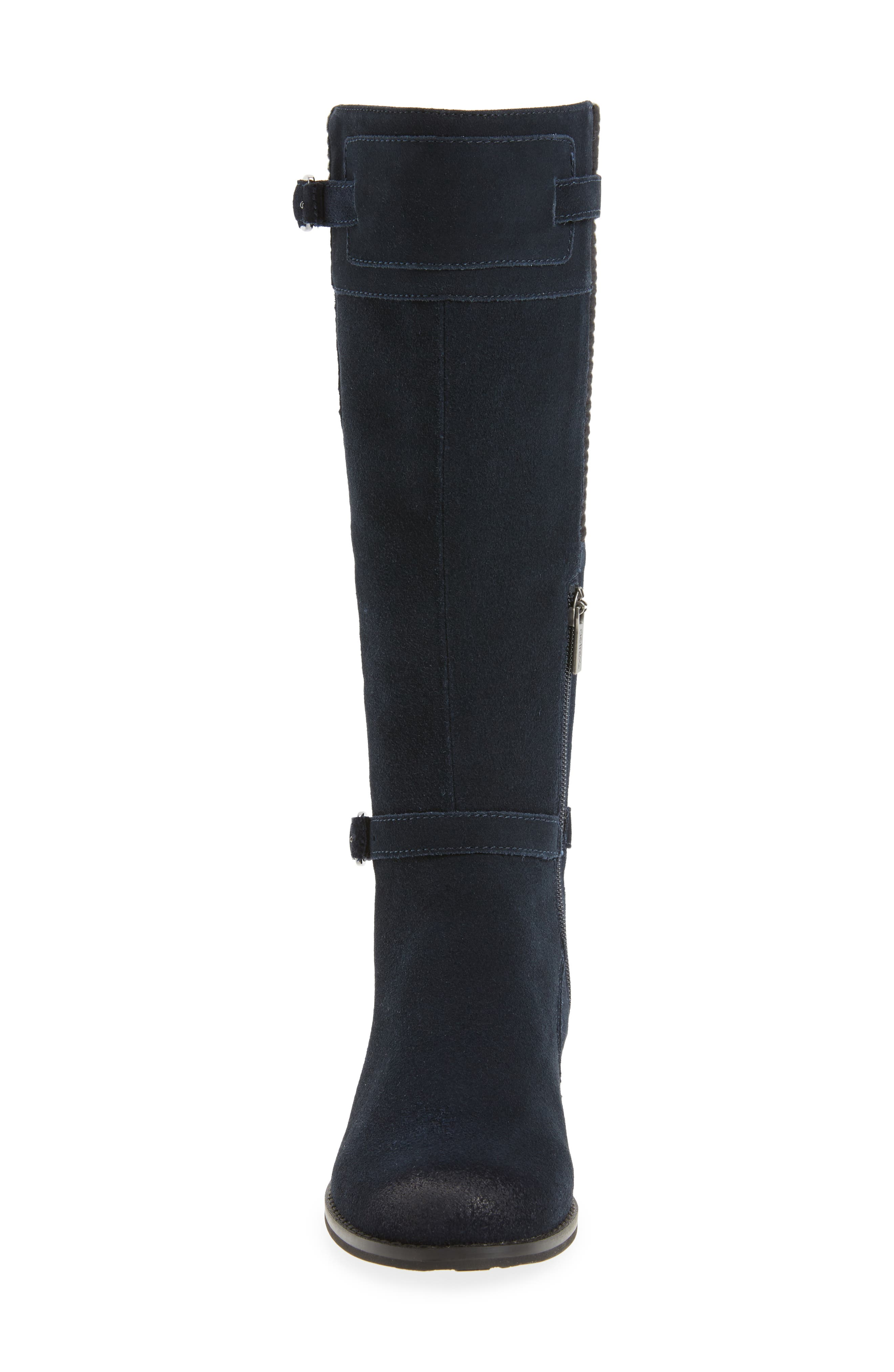 AETREX,                             Chelsea Riding Waterproof Boot,                             Alternate thumbnail 4, color,                             NAVY SUEDE