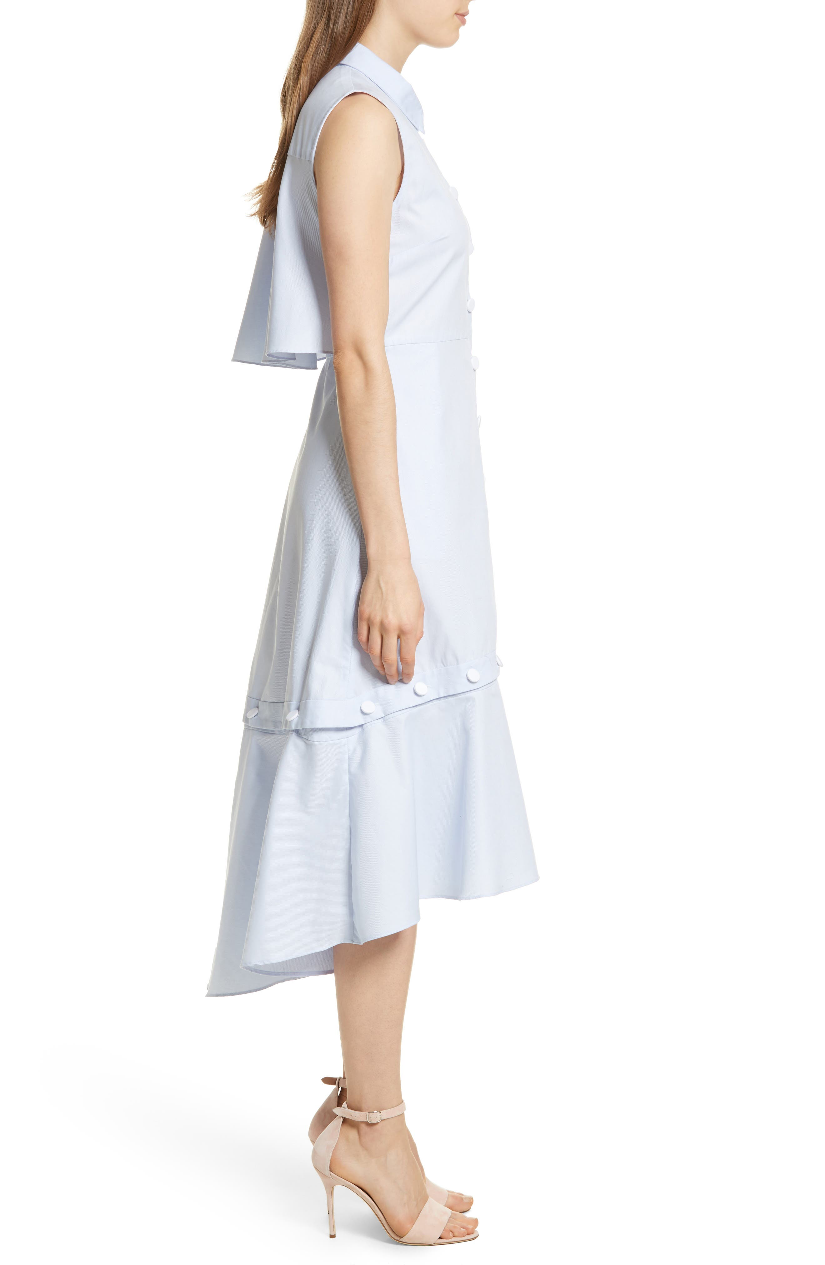 Prose & Poetry Rosen Midi Shirtdress,                             Alternate thumbnail 3, color,                             420