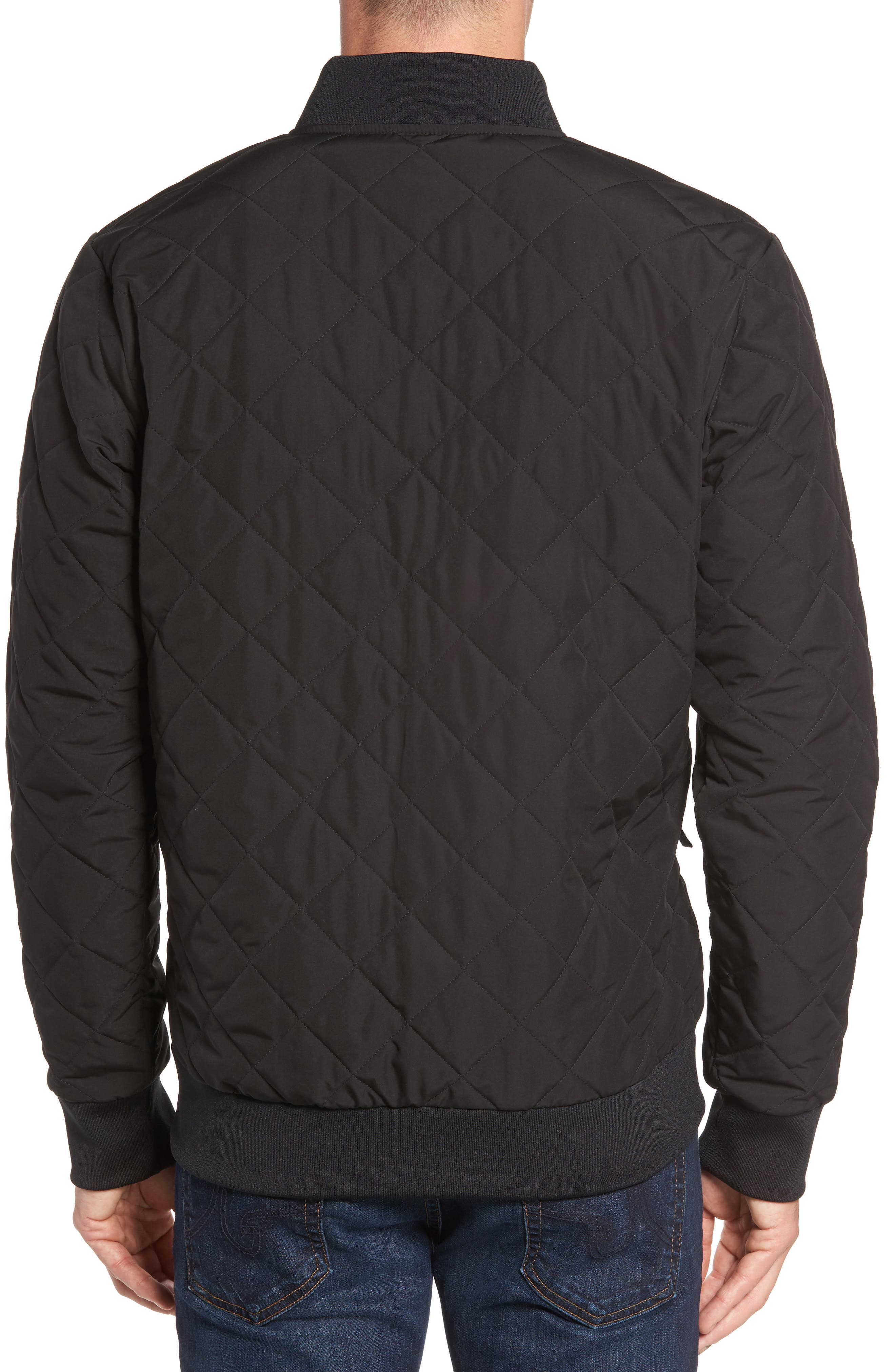 Distributor Quilted Bomber Jacket,                             Alternate thumbnail 2, color,                             001