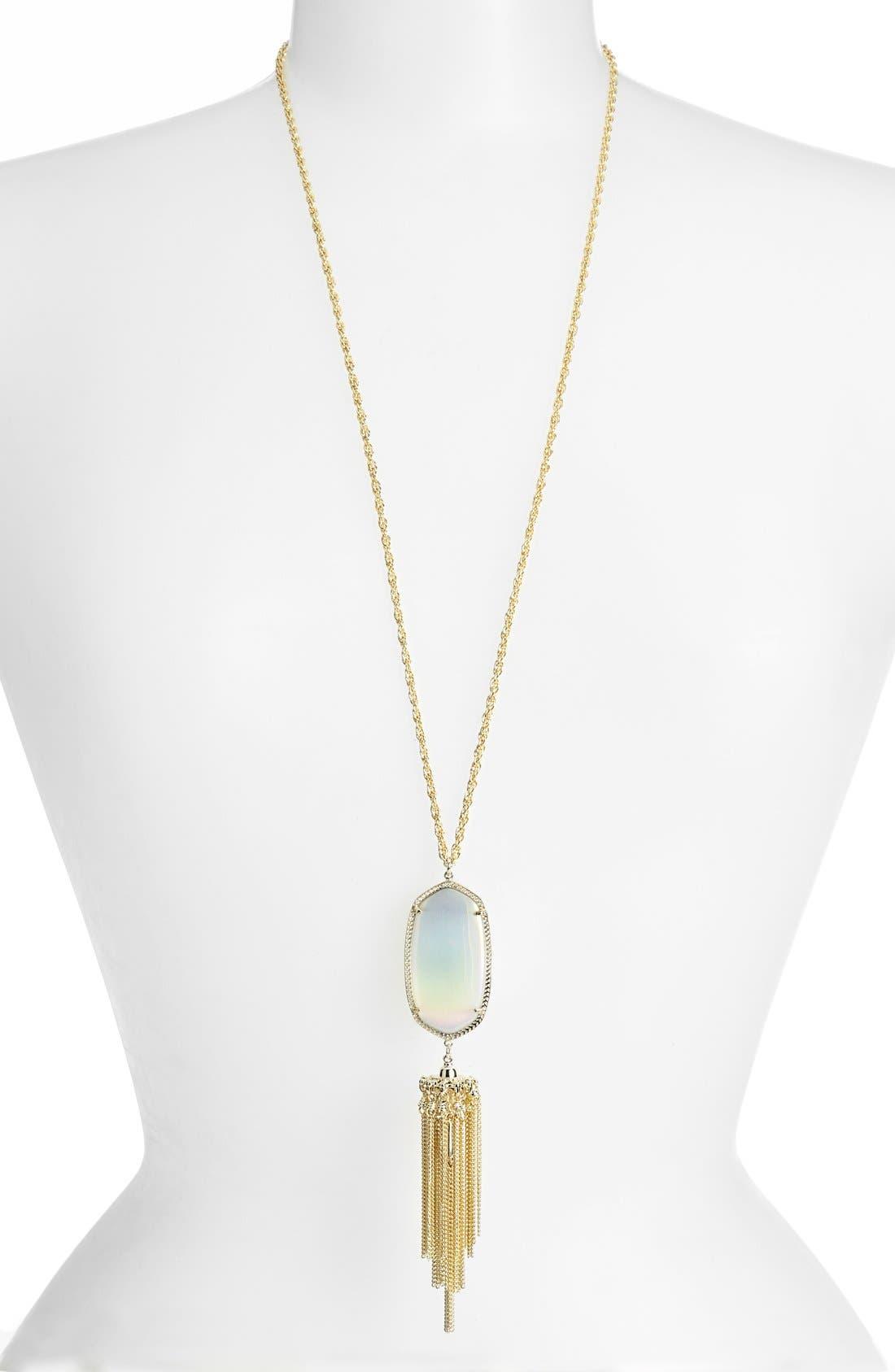 Rayne Stone Tassel Pendant Necklace,                             Main thumbnail 34, color,
