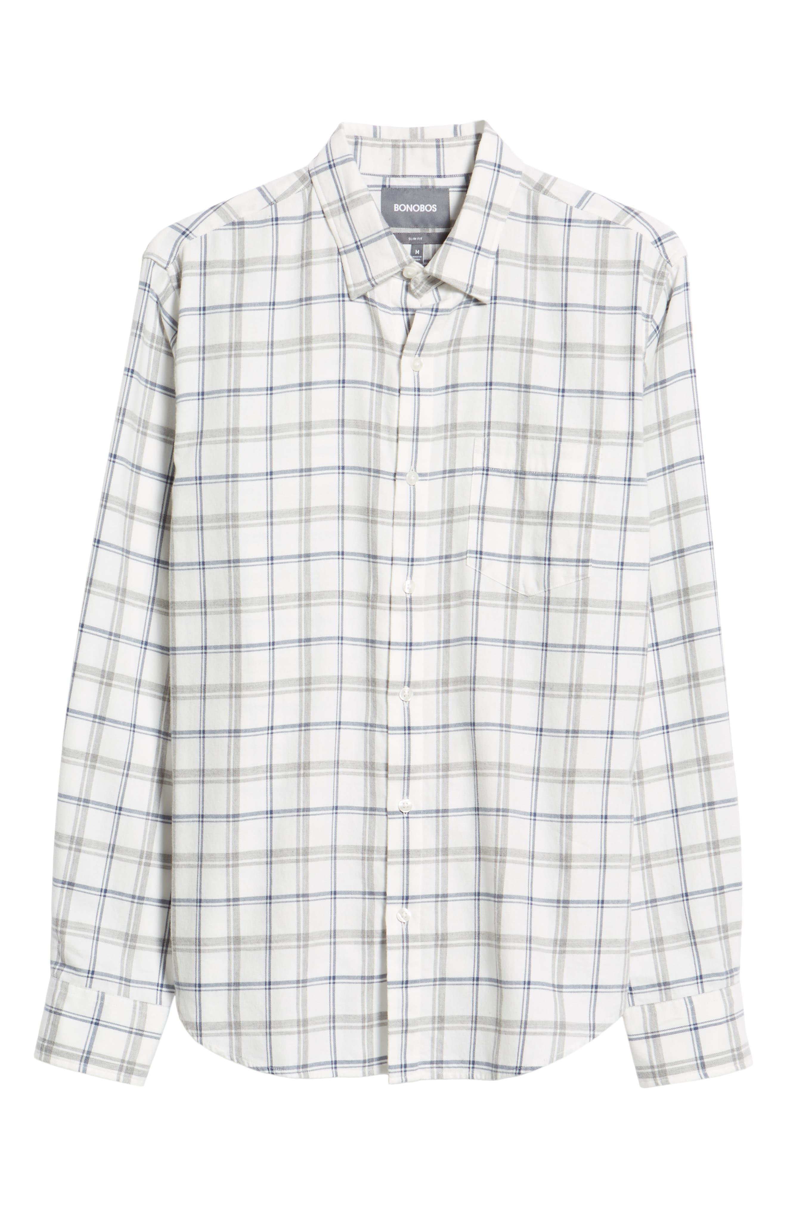 Slim Fit Brushed Twill Sport Shirt,                             Alternate thumbnail 5, color,                             400