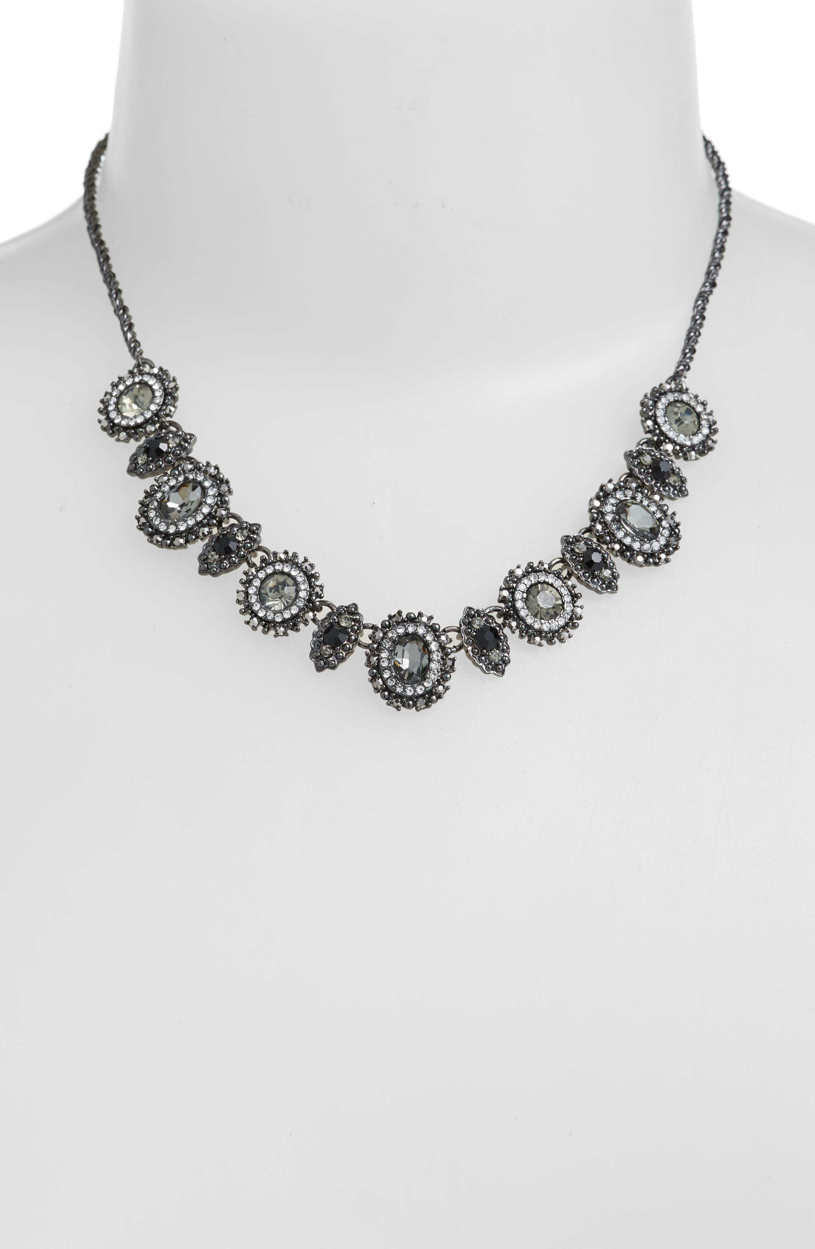 Crystal Frontal Necklace,                             Alternate thumbnail 2, color,                             001