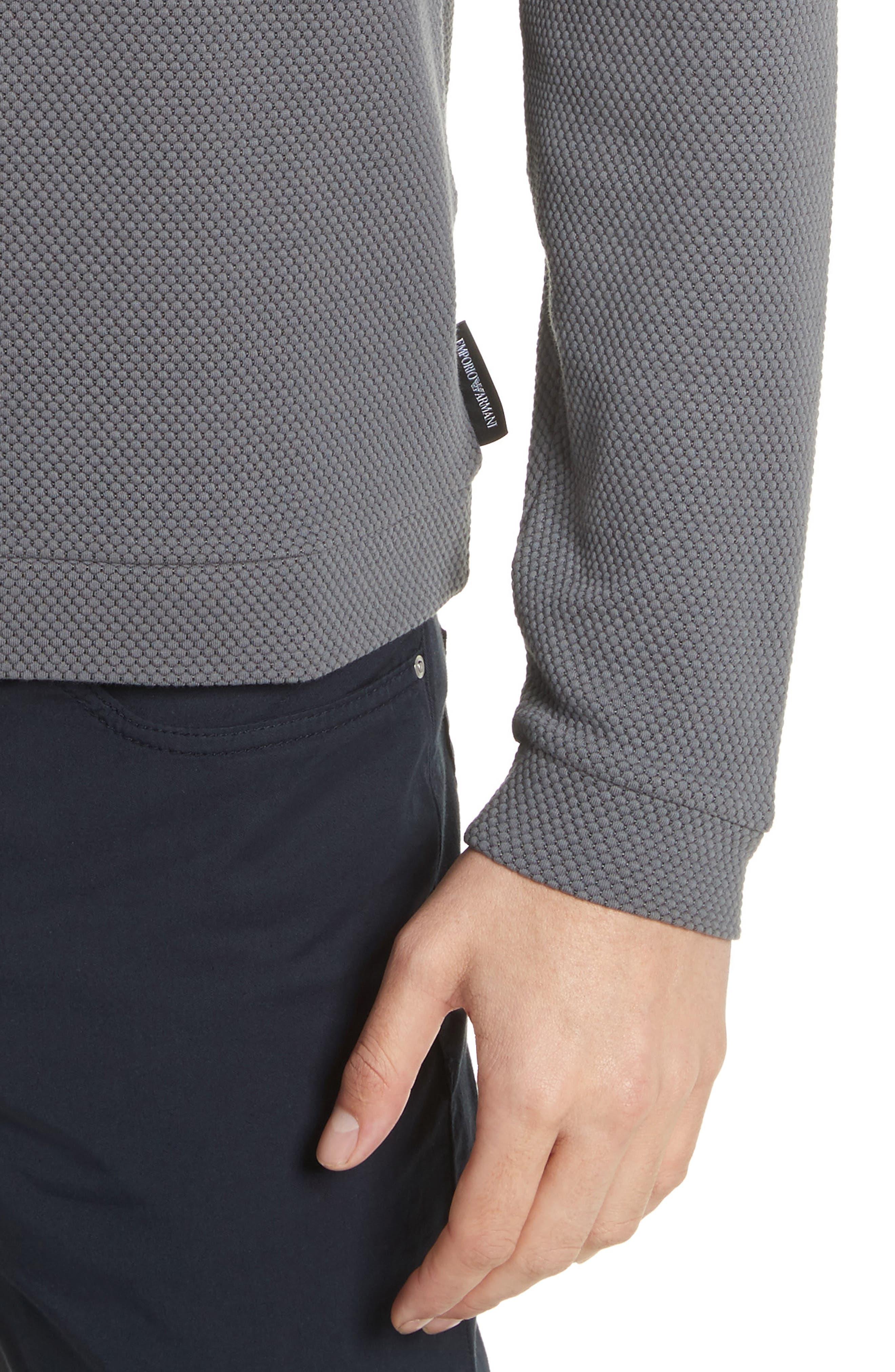 Honeycomb Jacquard Slim Fit T-Shirt,                             Alternate thumbnail 4, color,                             034