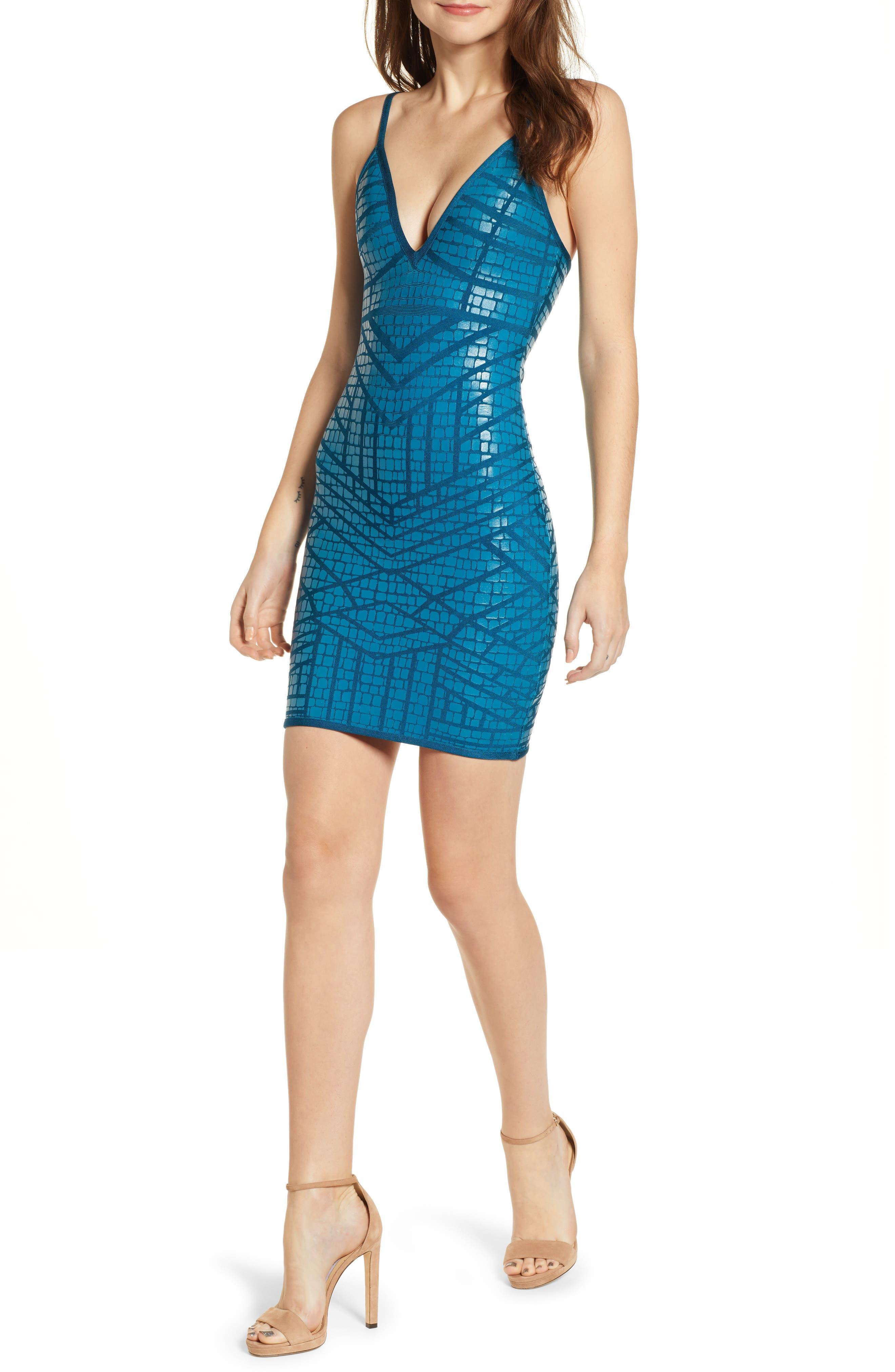 Bandage Body-Con Dress,                             Main thumbnail 1, color,                             MOONROCK