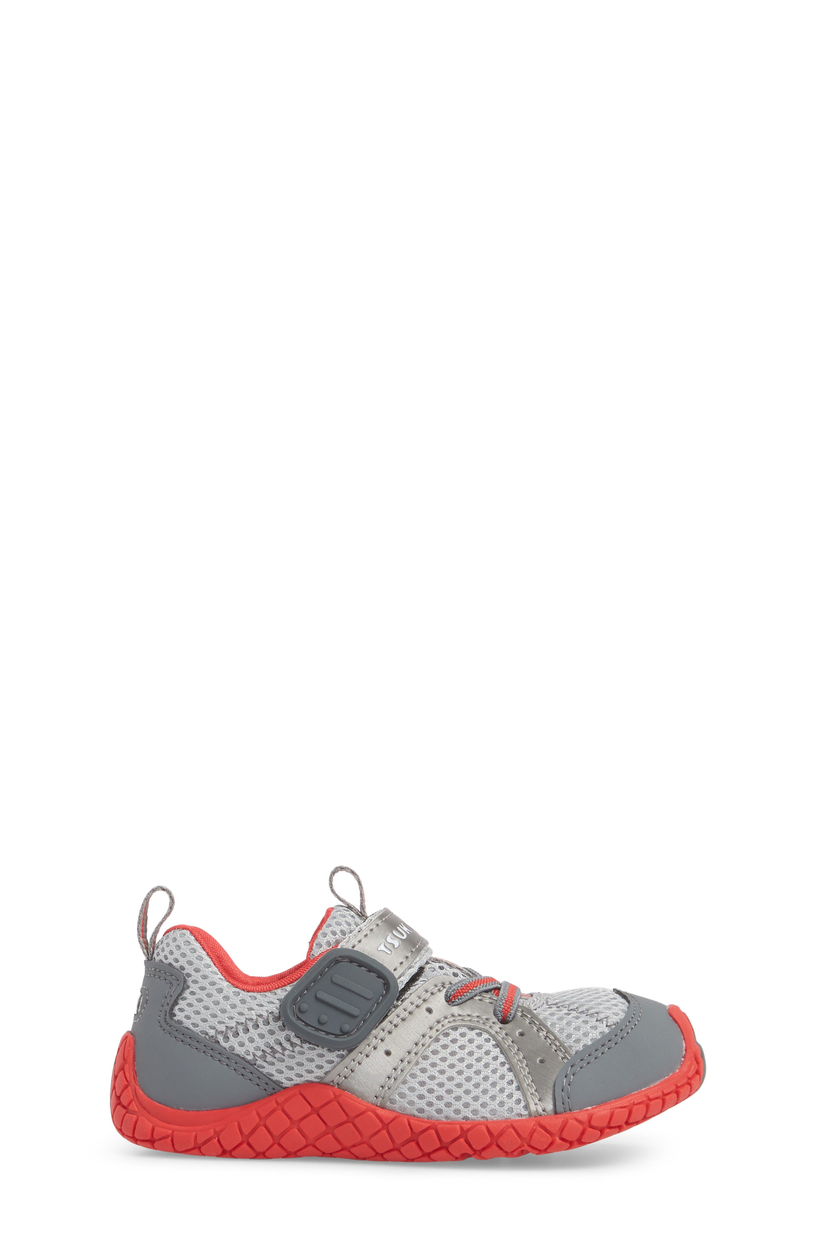 Marina Washable Sneaker,                             Alternate thumbnail 3, color,                             STEEL/ RED