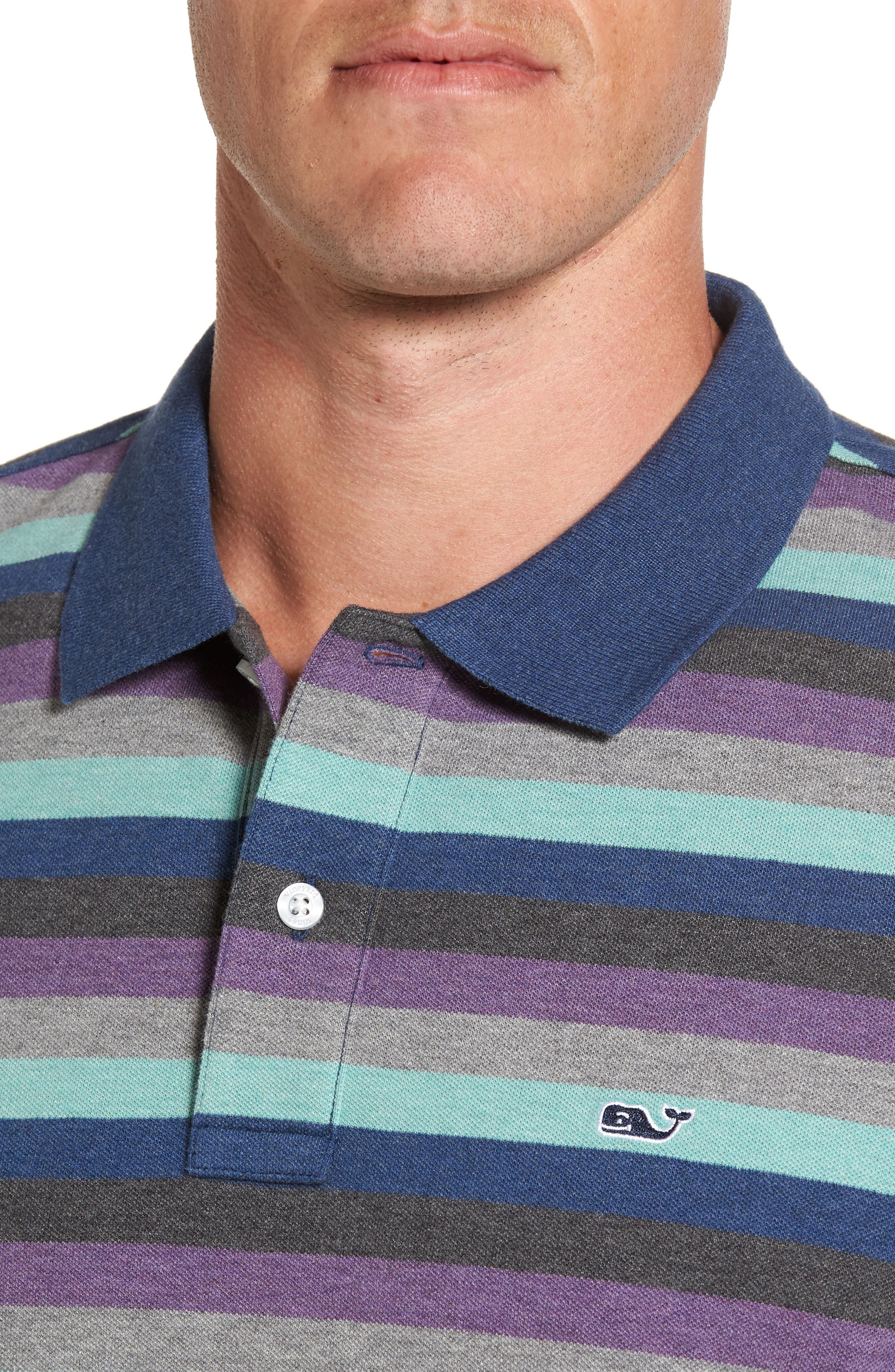 Striped Polo,                             Alternate thumbnail 4, color,                             020