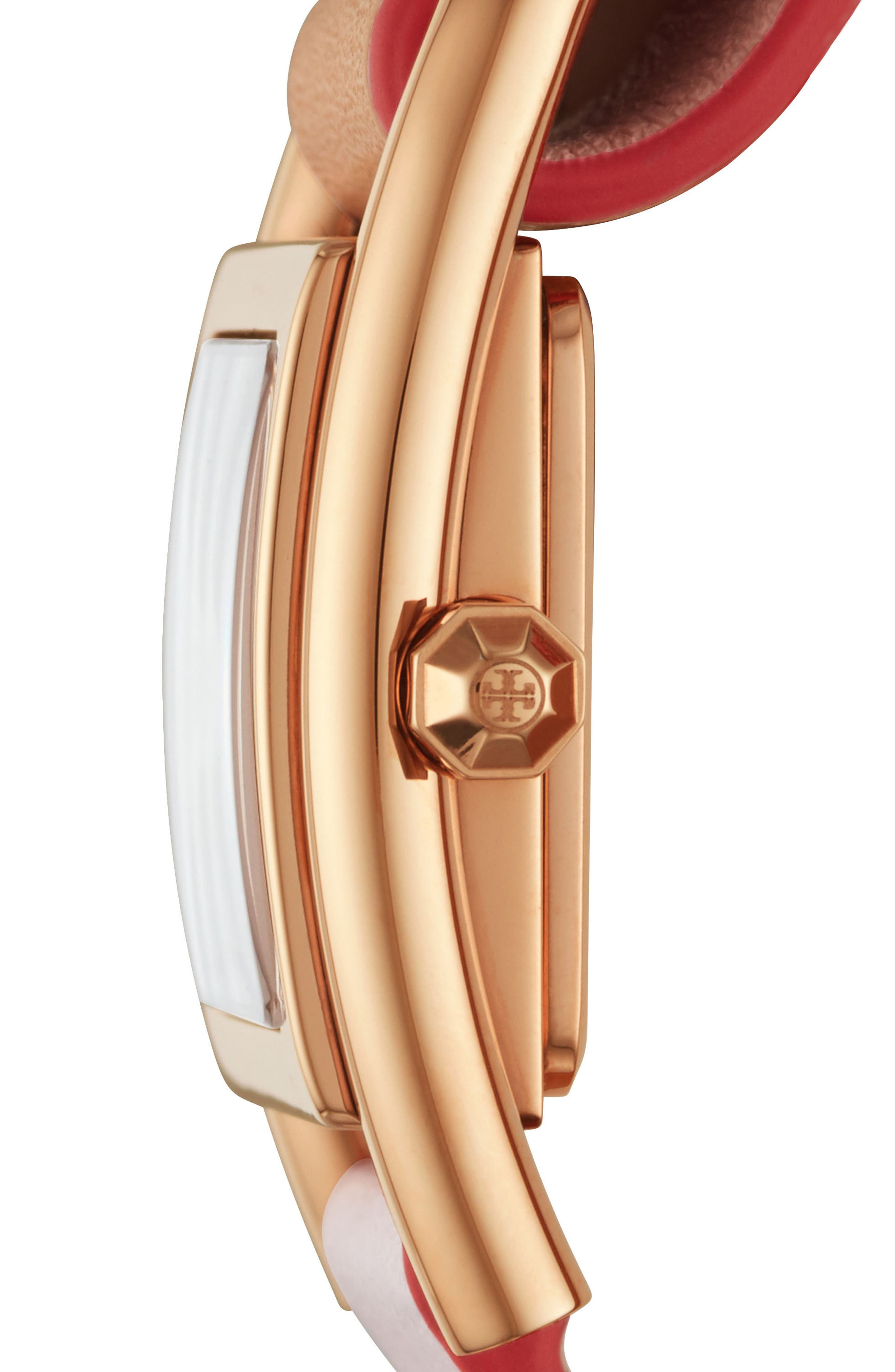 Thayer Leather Strap Watch, 25mm x 39mm,                             Alternate thumbnail 2, color,                             ROSE GOLD/ CREAM/ ROSE GOLD