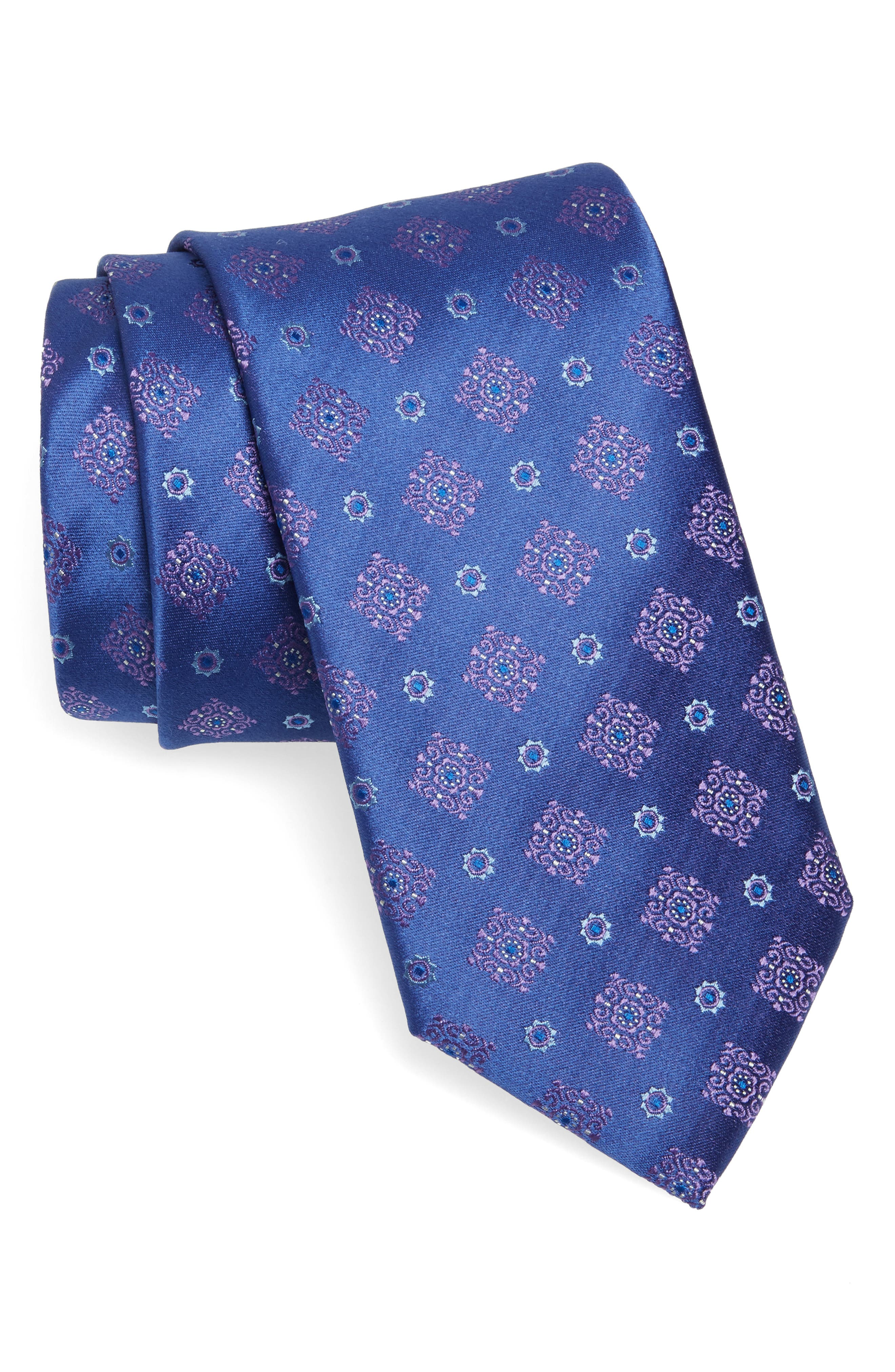 Medallion Silk Tie,                             Main thumbnail 1, color,