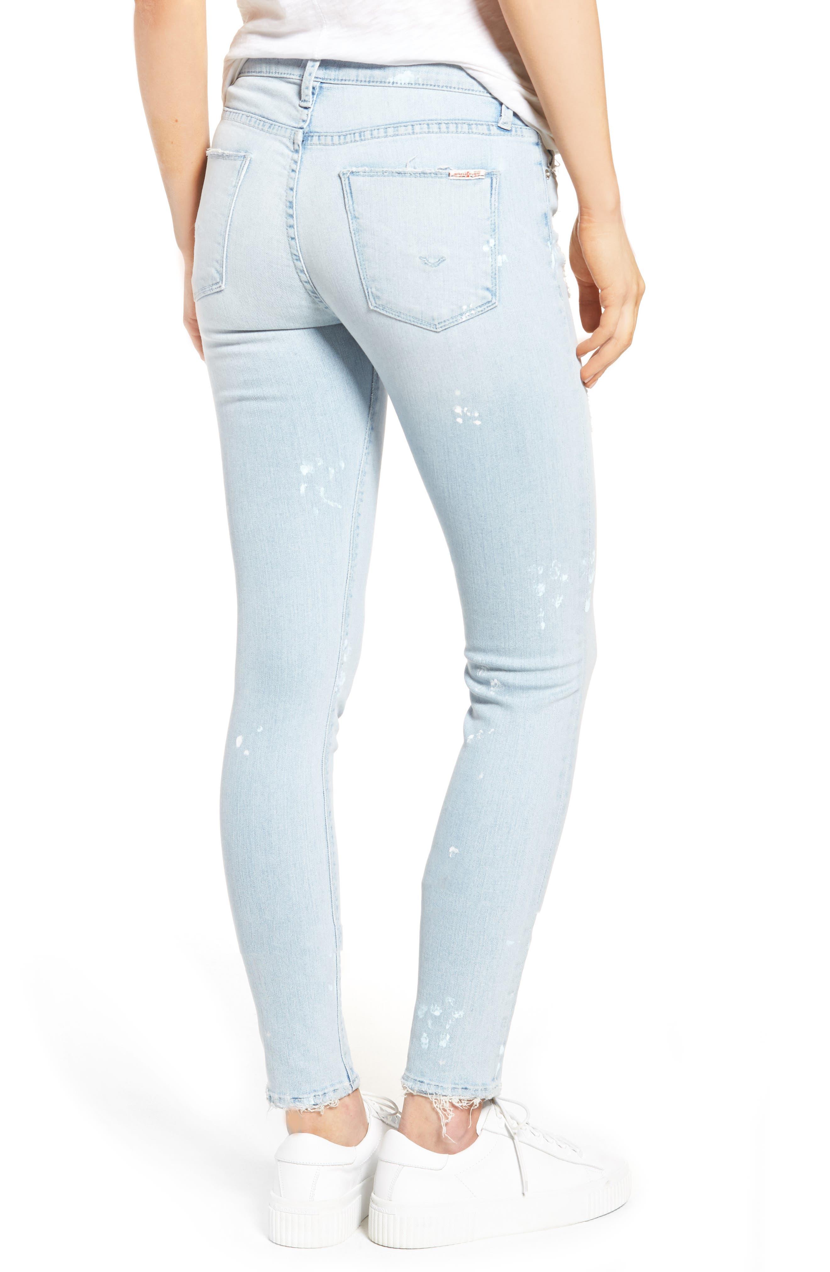 Hudson Nico Ankle Skinny Jeans,                             Alternate thumbnail 4, color,