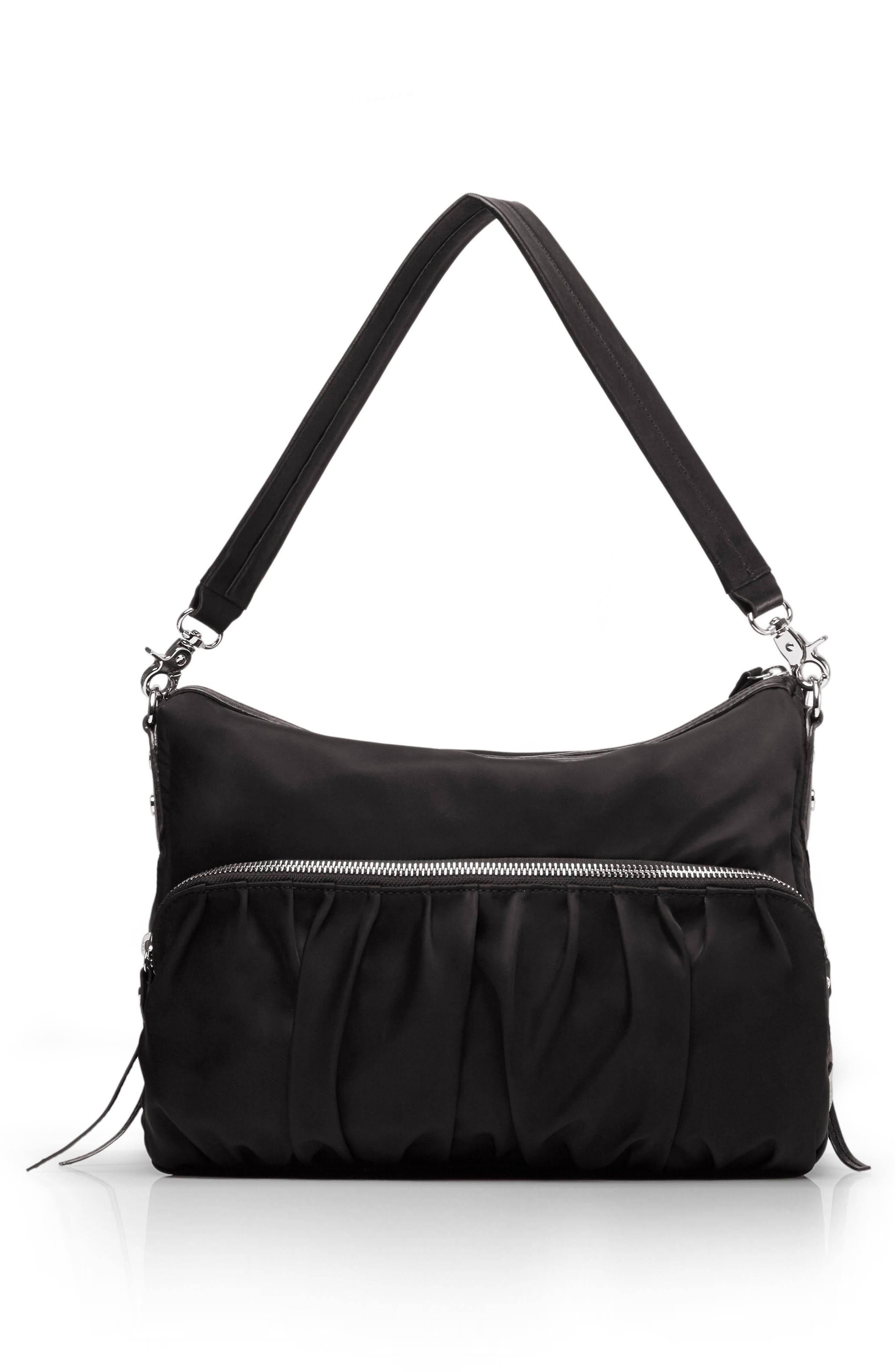 'Hayley' Bedford Nylon Handbag,                             Alternate thumbnail 4, color,                             001