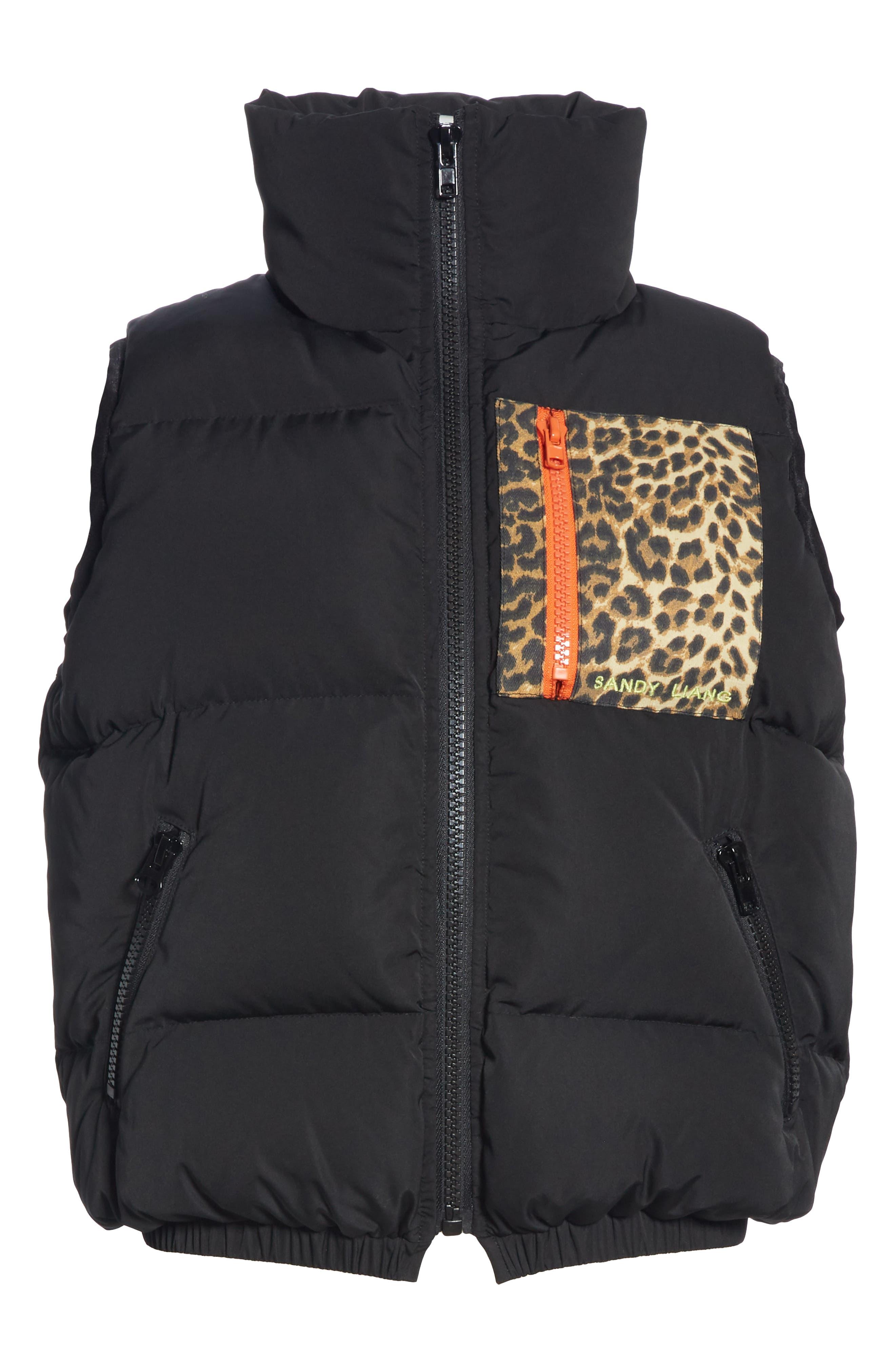 Primrose Down Puffer Vest,                             Alternate thumbnail 6, color,                             BLACK