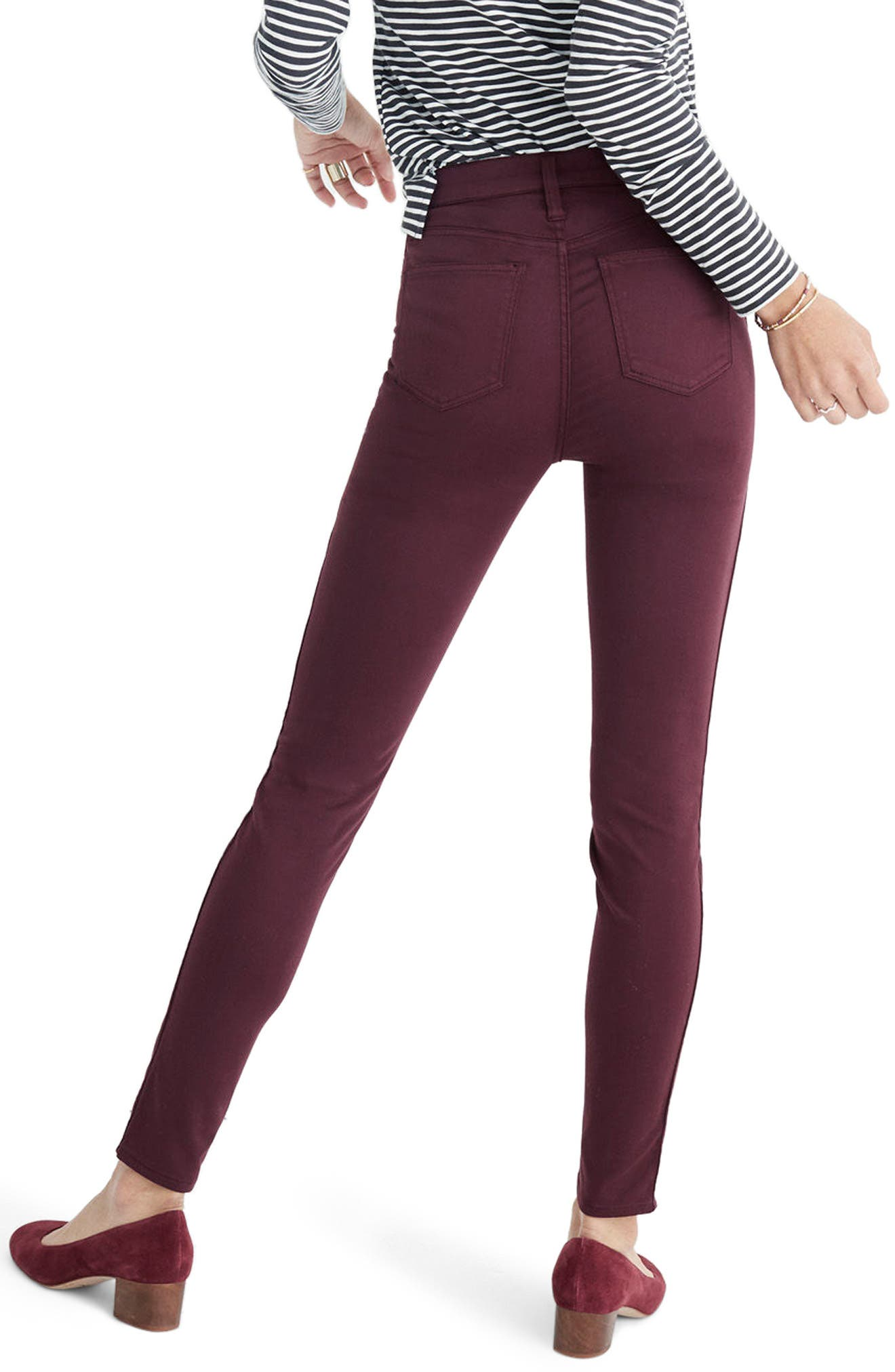 10-Inch High Waist Skinny Sateen Jeans,                             Alternate thumbnail 2, color,                             500