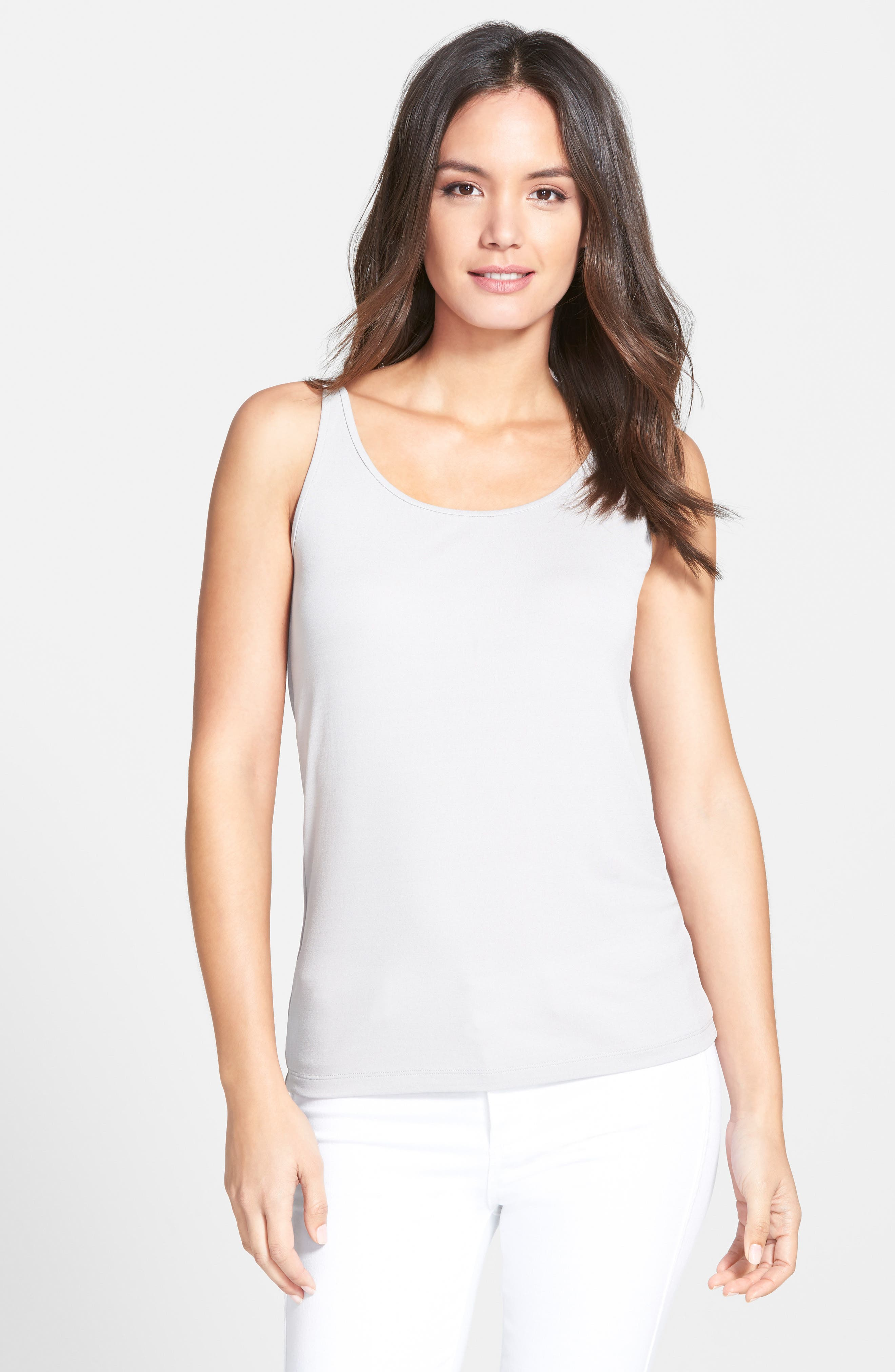 Long Scoop Neck Camisole,                             Main thumbnail 1, color,                             021