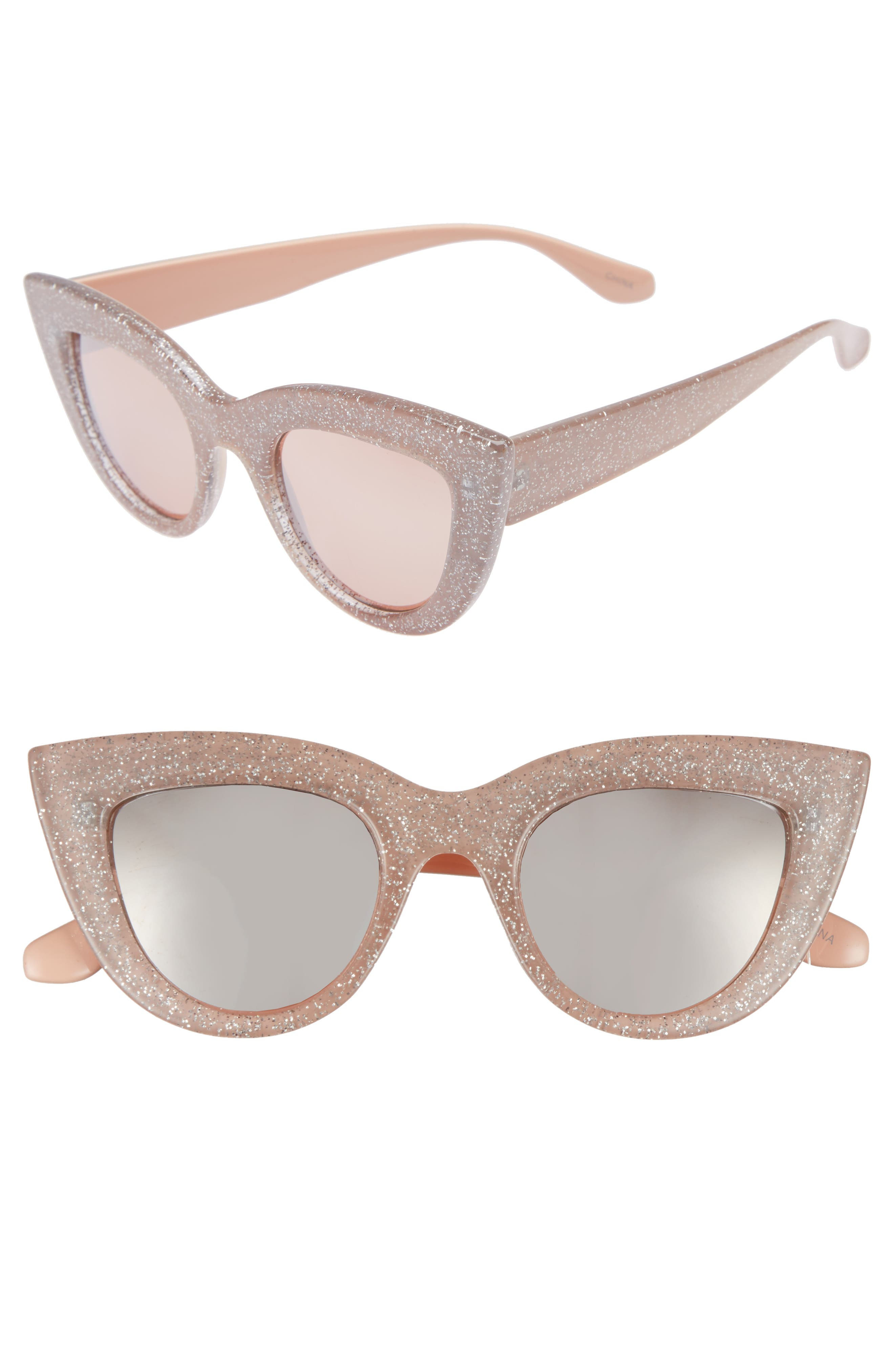 45mm Glitter Cat Eye Sunglasses,                             Main thumbnail 2, color,