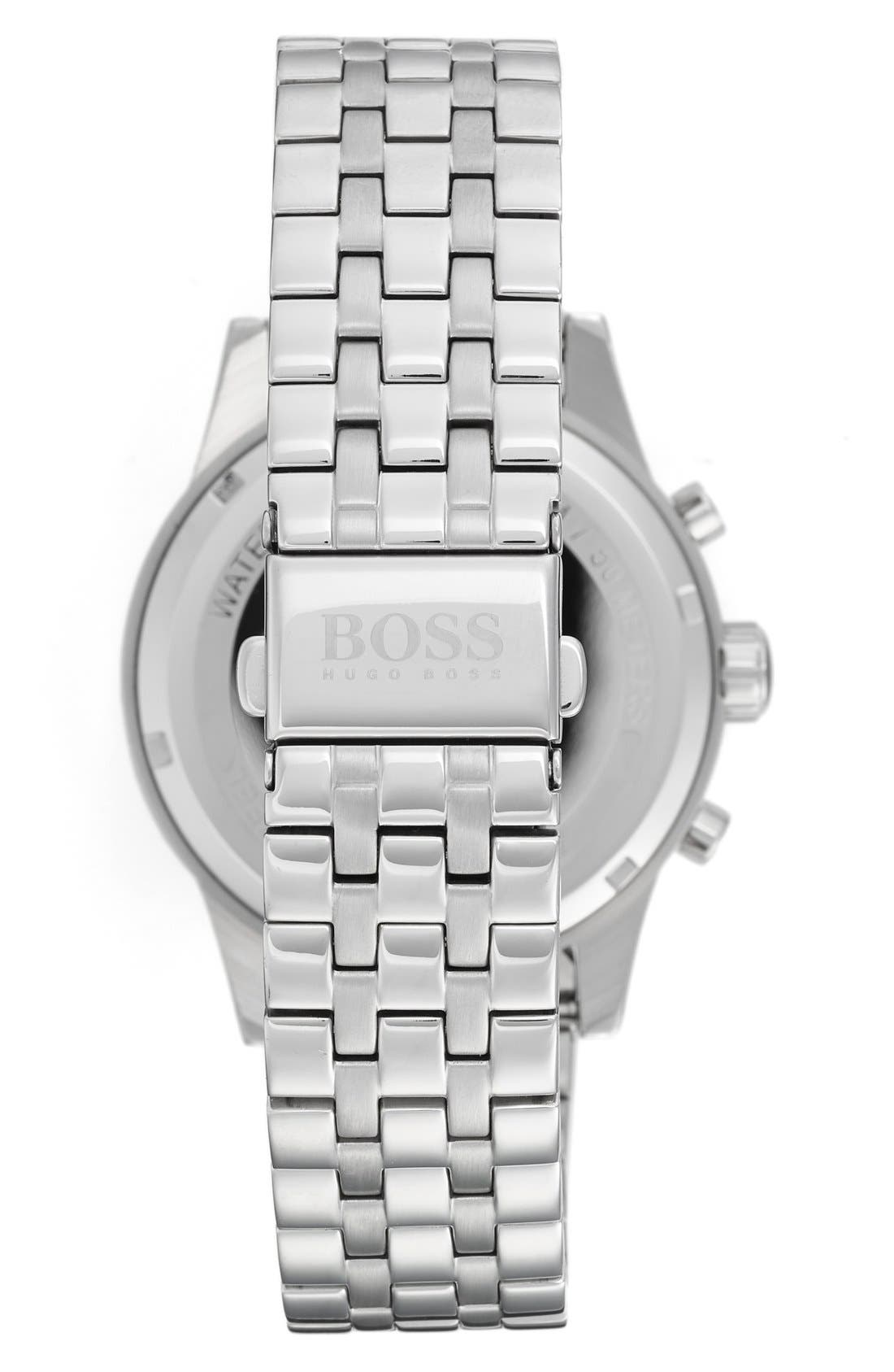BOSS 'Jet' Chronograph Bracelet Watch, 41mm,                             Alternate thumbnail 3, color,                             BLUE/ SILVER