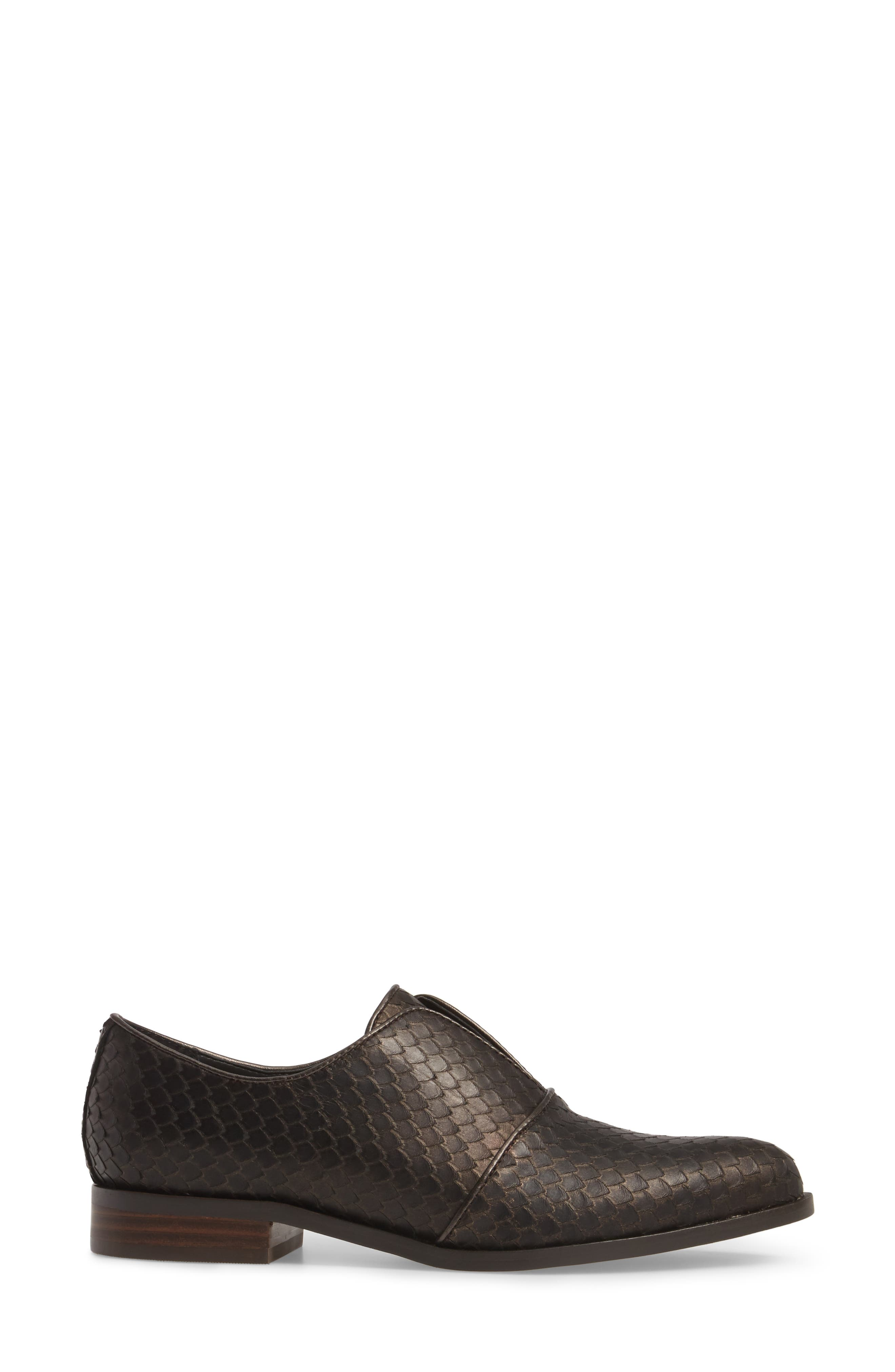 Isola Maria Slip-On Oxford,                             Alternate thumbnail 3, color,                             T. MORO BROWN LEATHER