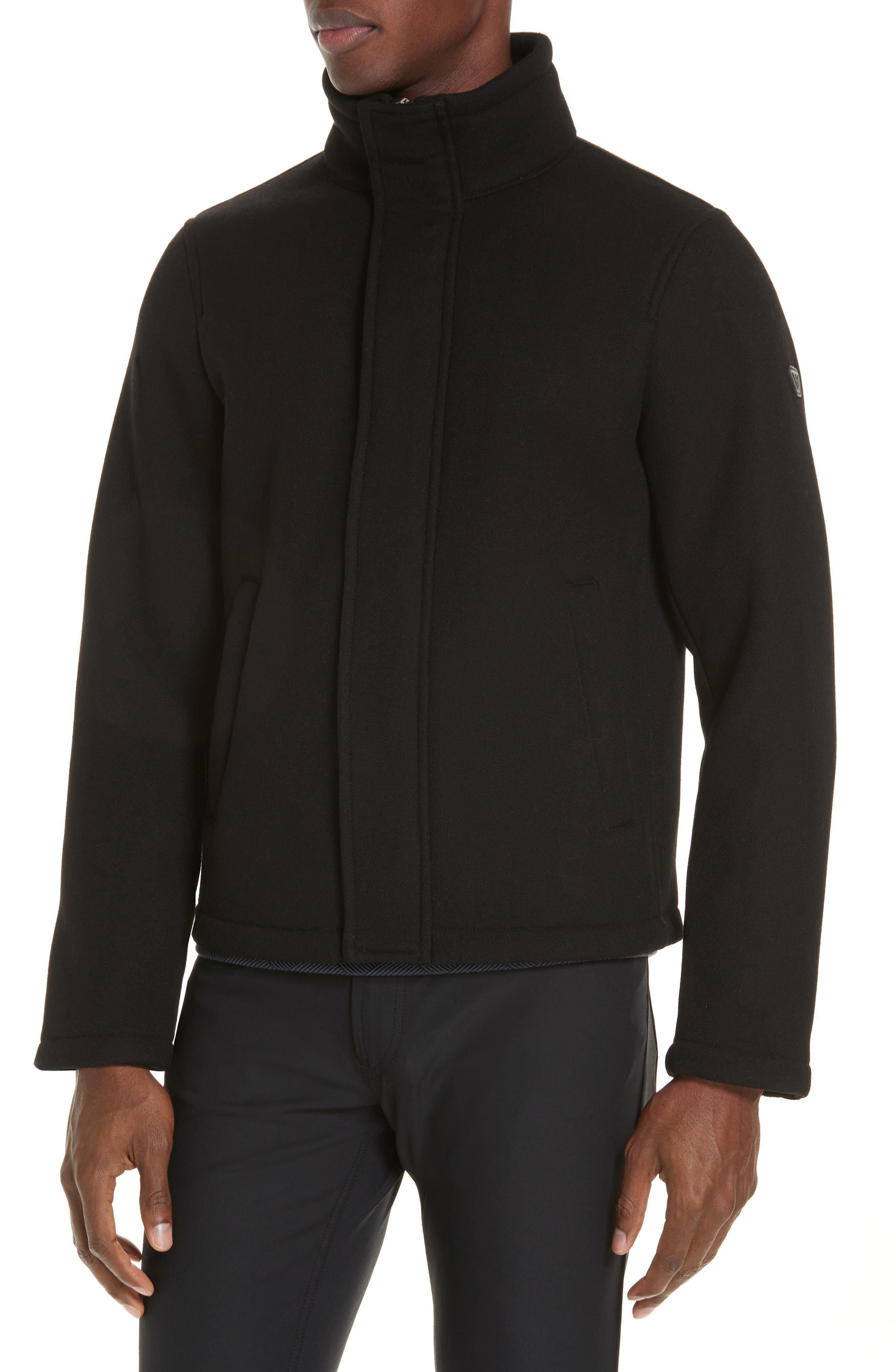 Broadcloth Down Jacket,                             Alternate thumbnail 4, color,                             BLACK