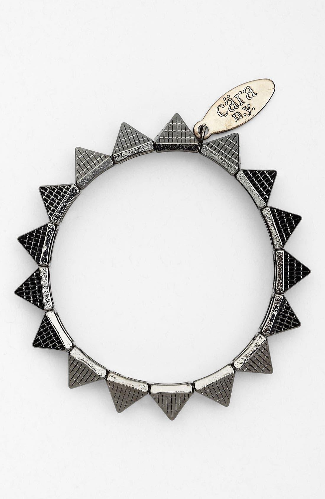 CARA,                             Pyramid Stretch Bracelet,                             Main thumbnail 1, color,                             001
