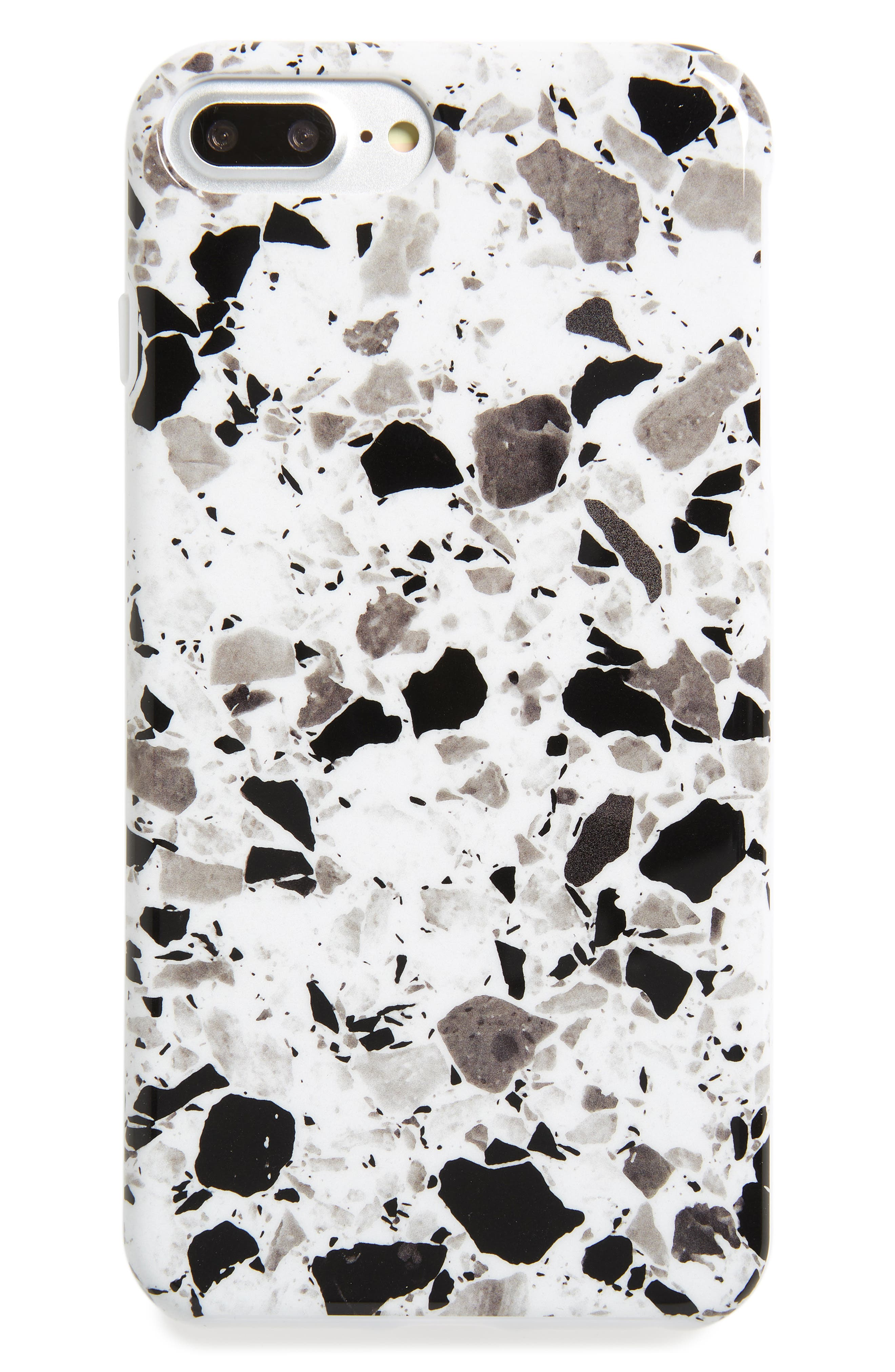 White Terrazzo iPhone 6/6s/7/8 & 6/6s/7/8 Plus Case,                             Main thumbnail 1, color,                             100