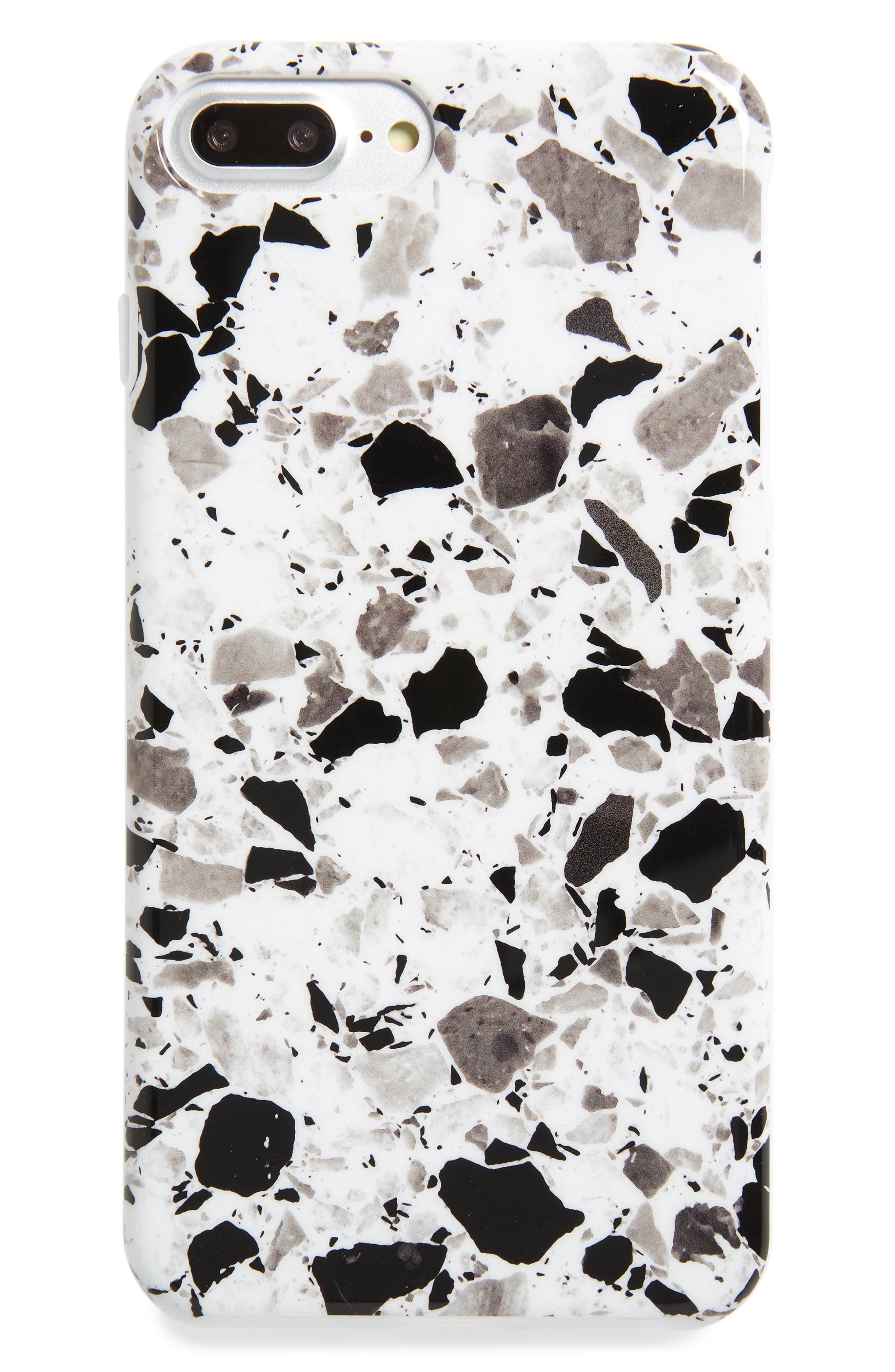 White Terrazzo iPhone 6/6s/7/8 & 6/6s/7/8 Plus Case,                         Main,                         color, 100