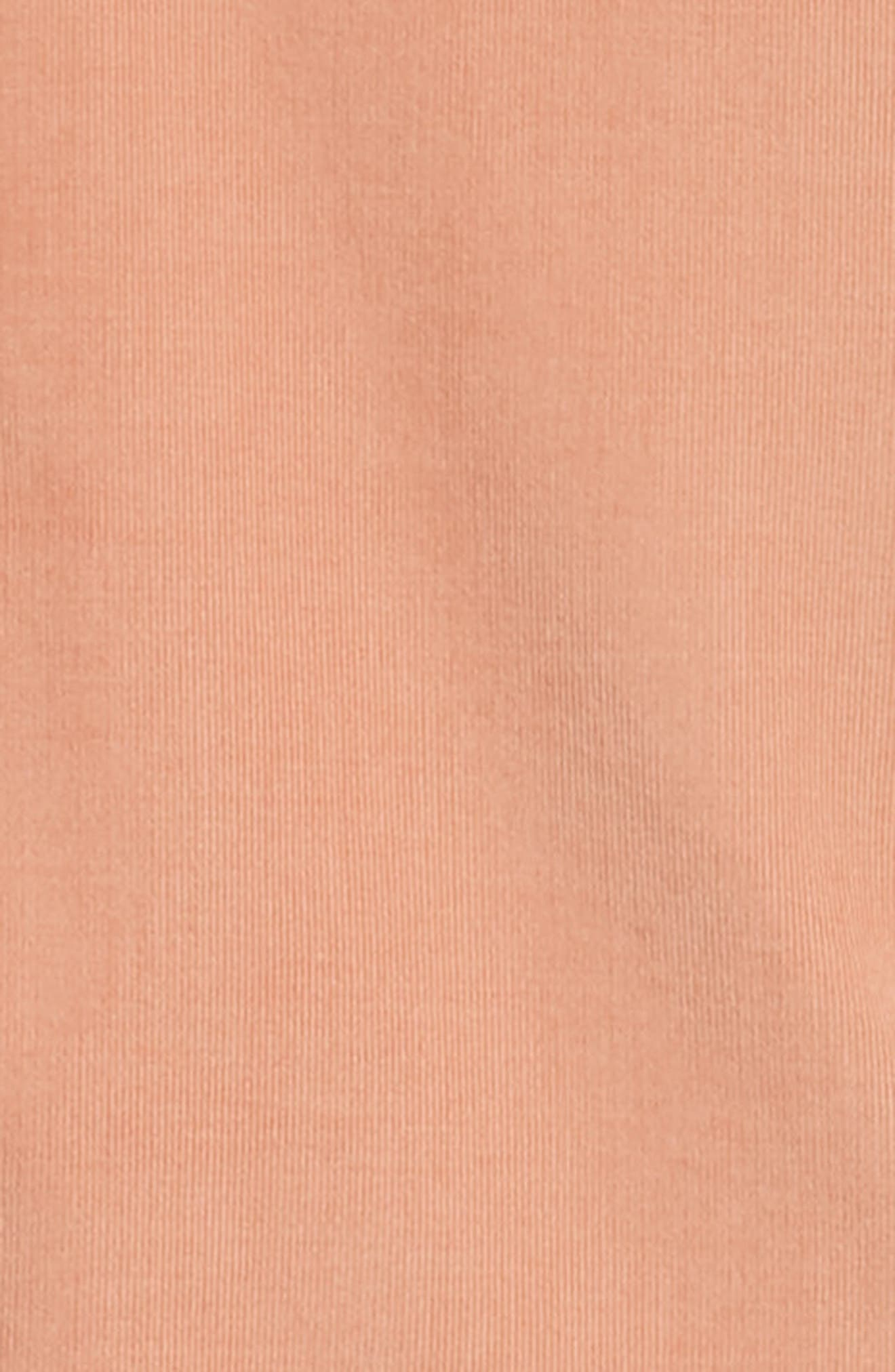 Regular Fit Corduroy Shirt,                             Alternate thumbnail 6, color,                             PINK