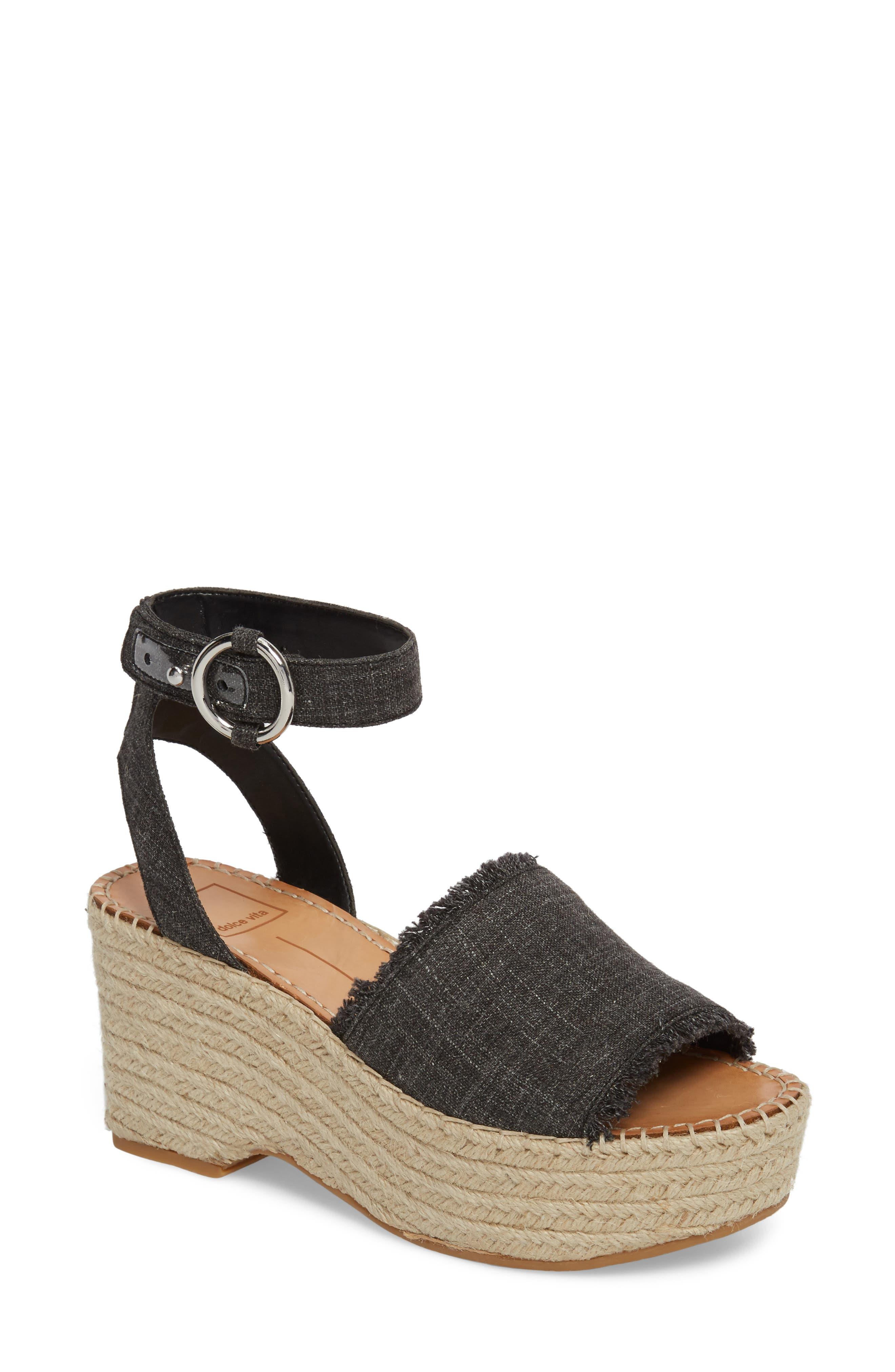 Lesly Espadrille Platform Sandal,                             Main thumbnail 2, color,