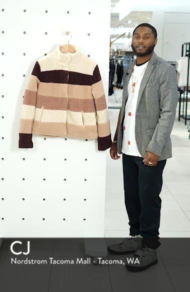 Stripe Faux Shearling Jacket, sales video thumbnail