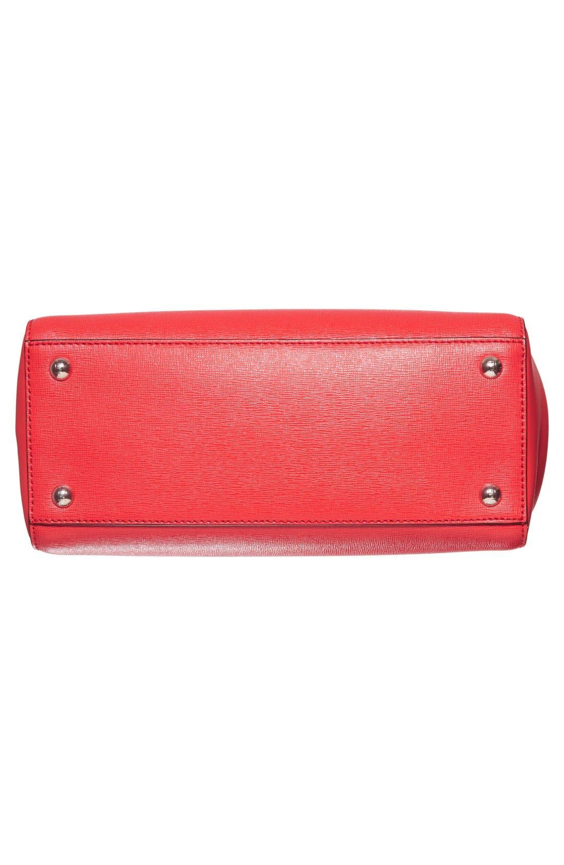 'Petite 2Jours Elite' Leather Shopper,                             Alternate thumbnail 114, color,