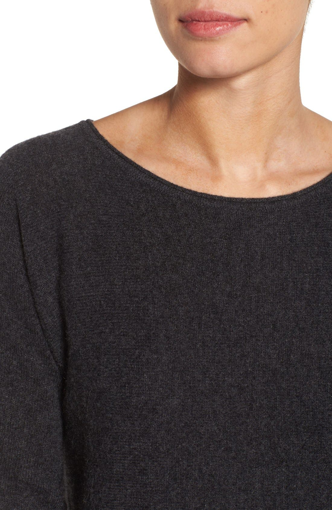 High/Low Wool & Cashmere Tunic Sweater,                             Alternate thumbnail 56, color,