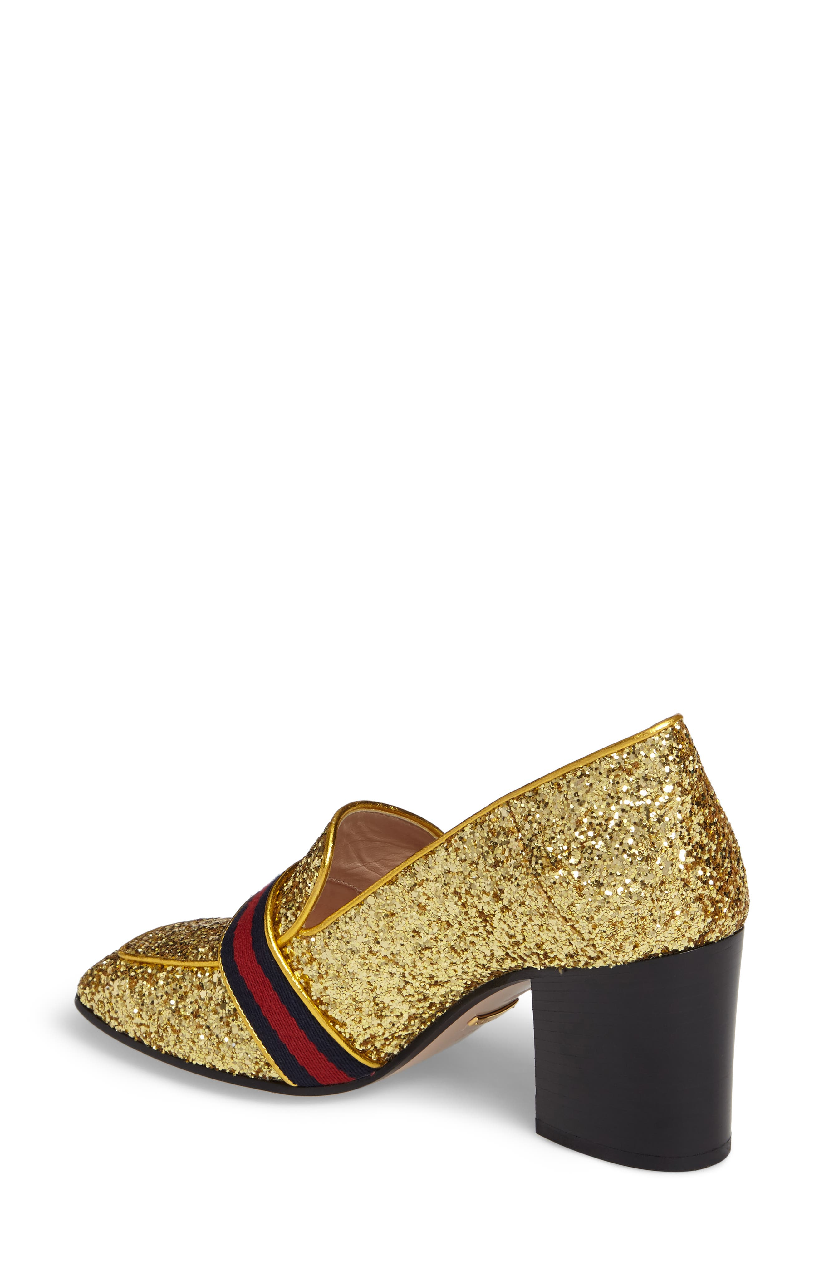Glitter Peyton Loafer Pump,                             Alternate thumbnail 3, color,