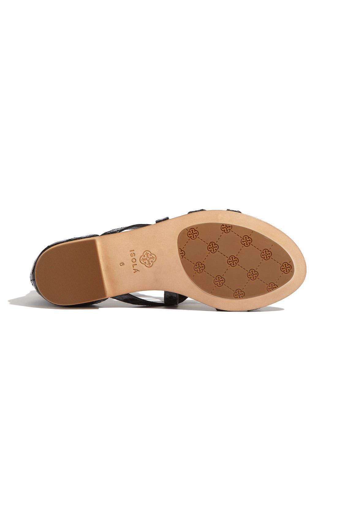 'Adriel' Flat Sandal,                             Alternate thumbnail 3, color,                             001